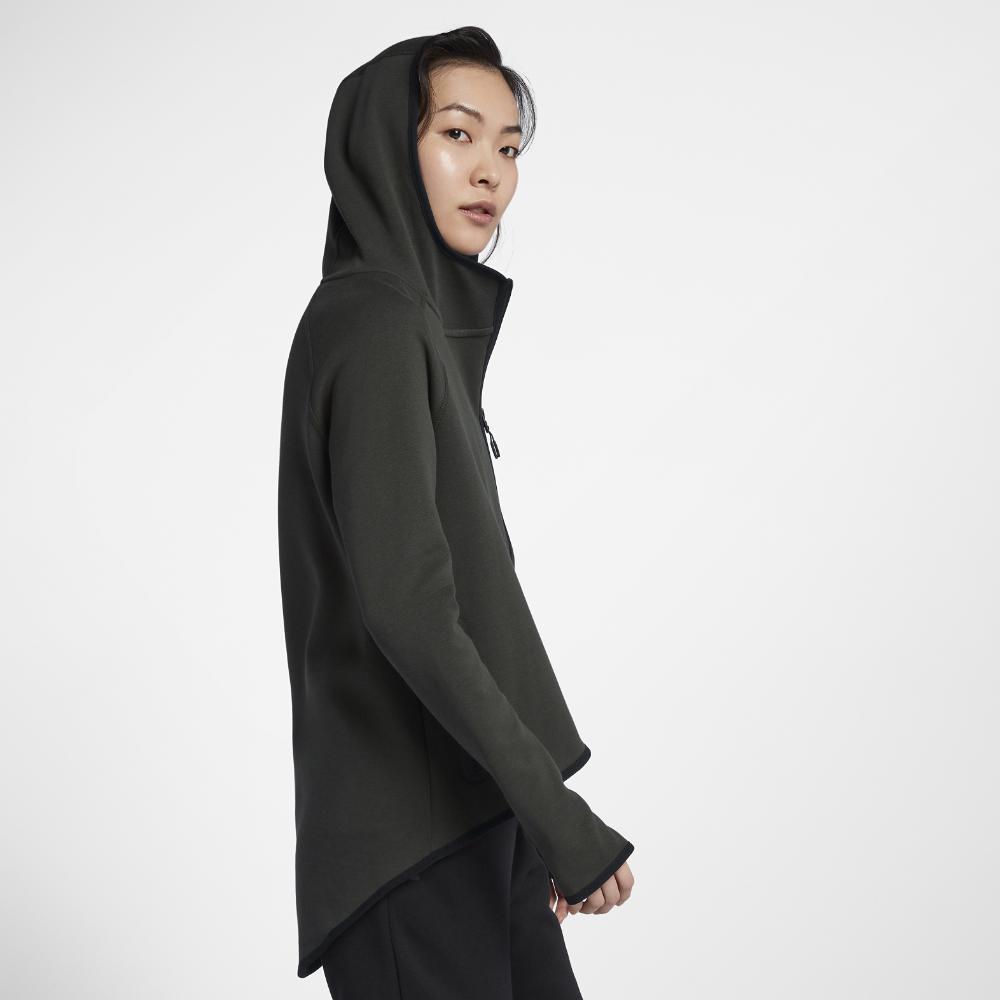 ddecd2e59913 Lyst - Nike Sportswear Tech Fleece Women s Full-zip Cape in Black