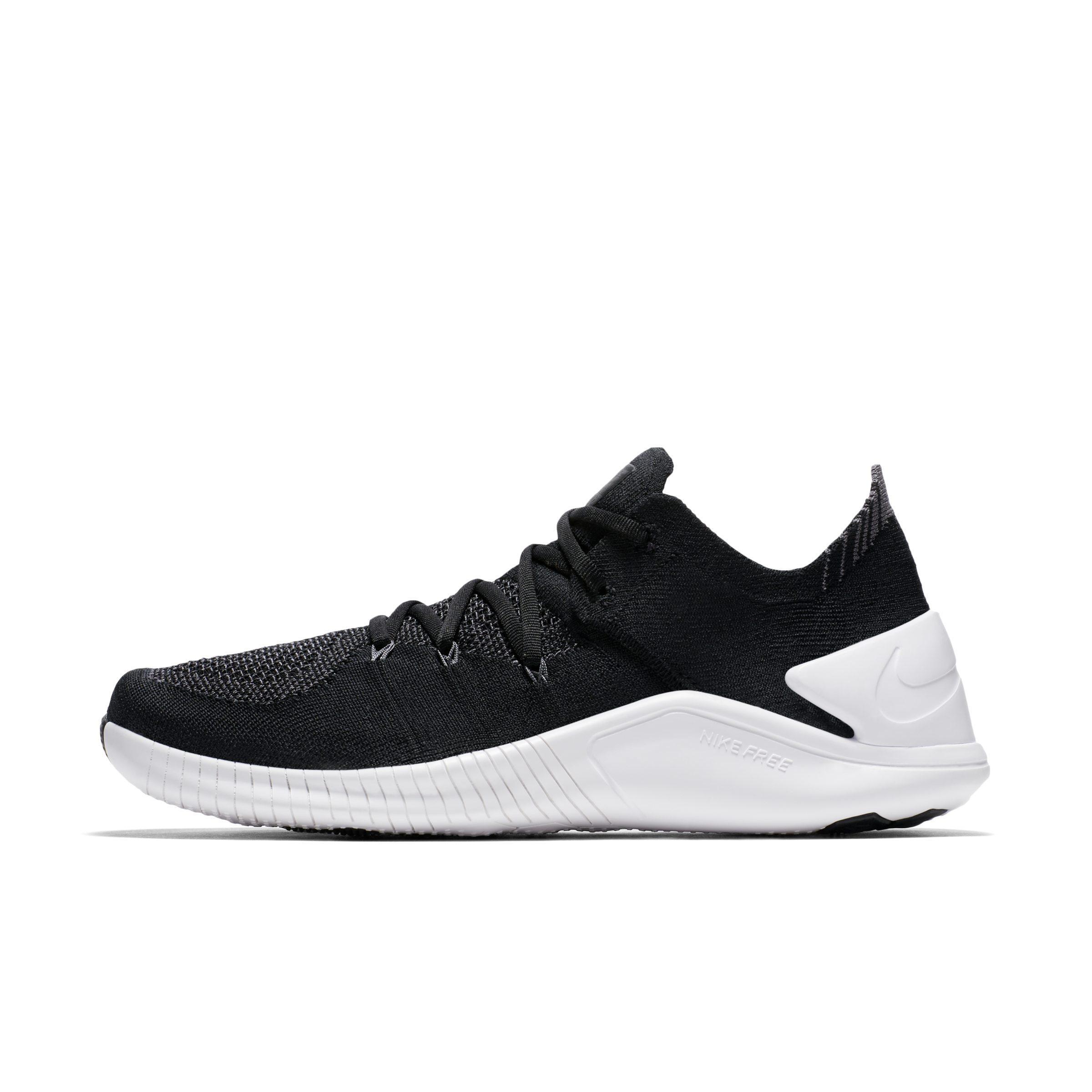 789ba25596b44 Nike Free Tr Flyknit 3 Women s Training Shoe in Black - Lyst
