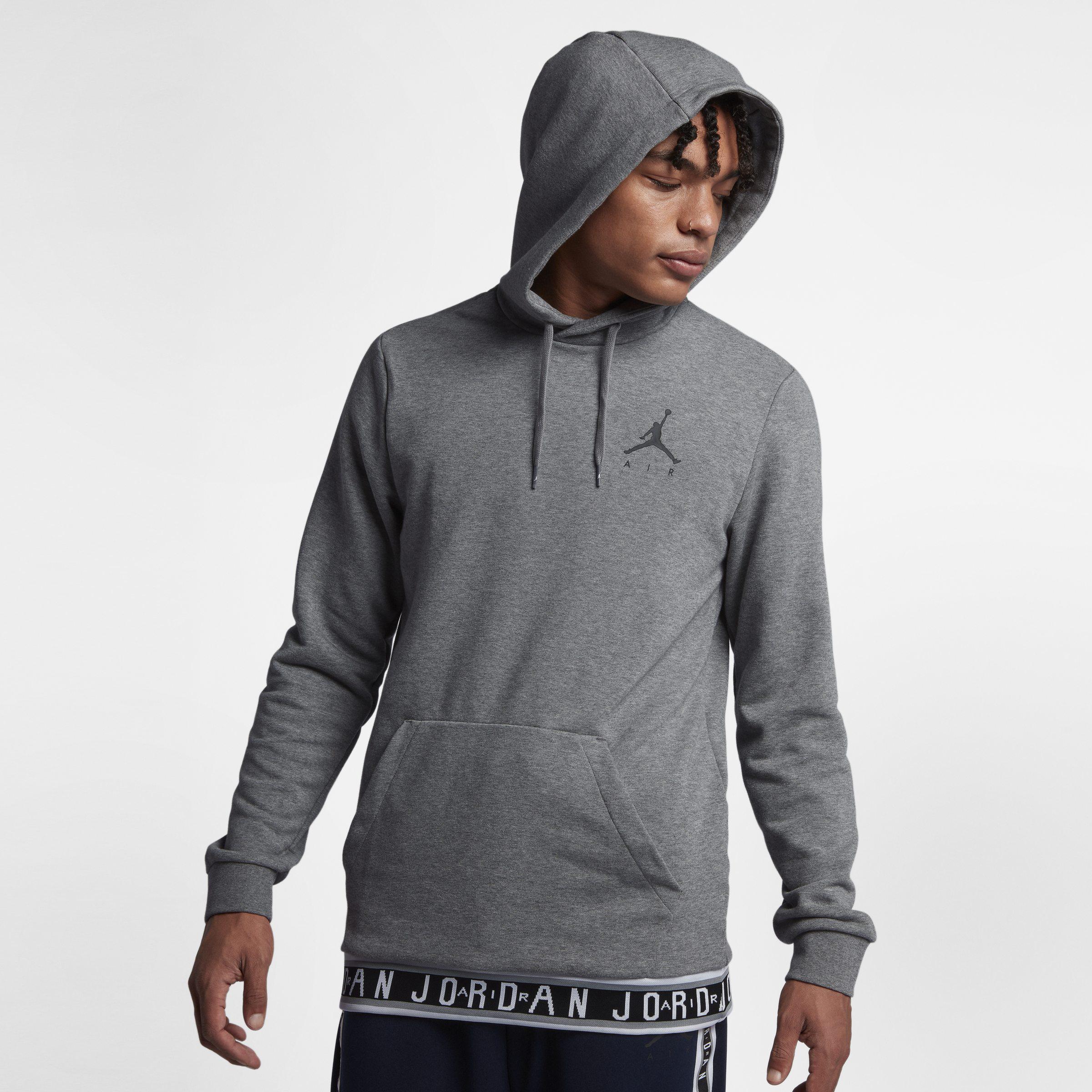 77194d5c06563e Nike Jordan Jumpman Air Basketball Pullover Hoodie in Gray for Men ...