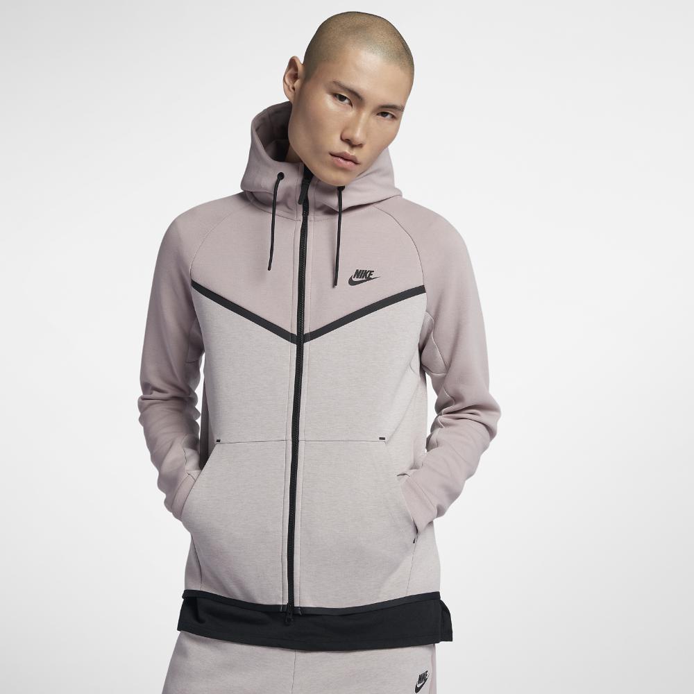 Nike Sportswear Tech Fleece Windrunner Men S Full Zip Hoodie In Gray For Men Lyst