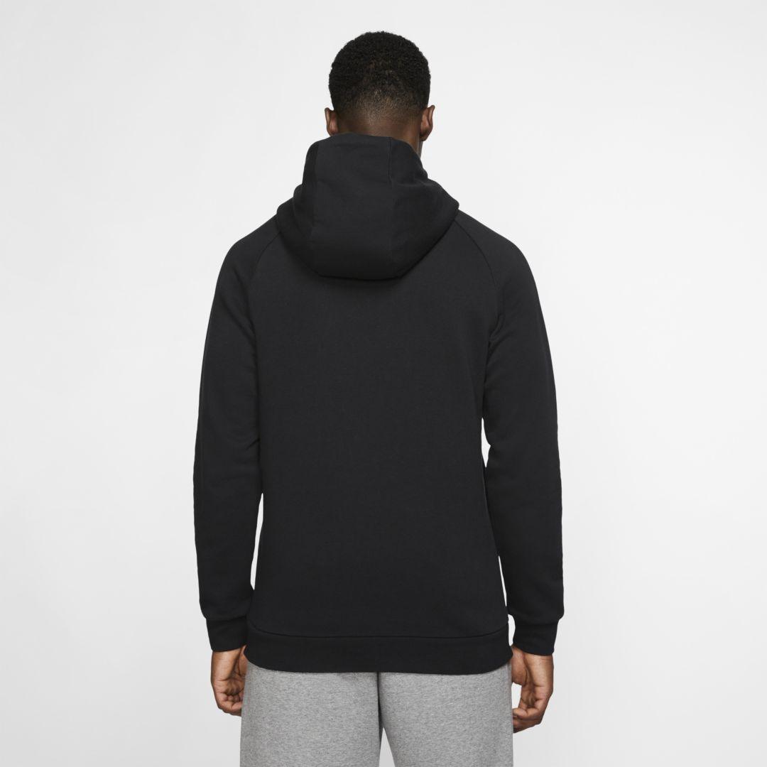 Nike Jordan Paris Saint Germain Fleece Pullover Hoodie In Black For Men Lyst