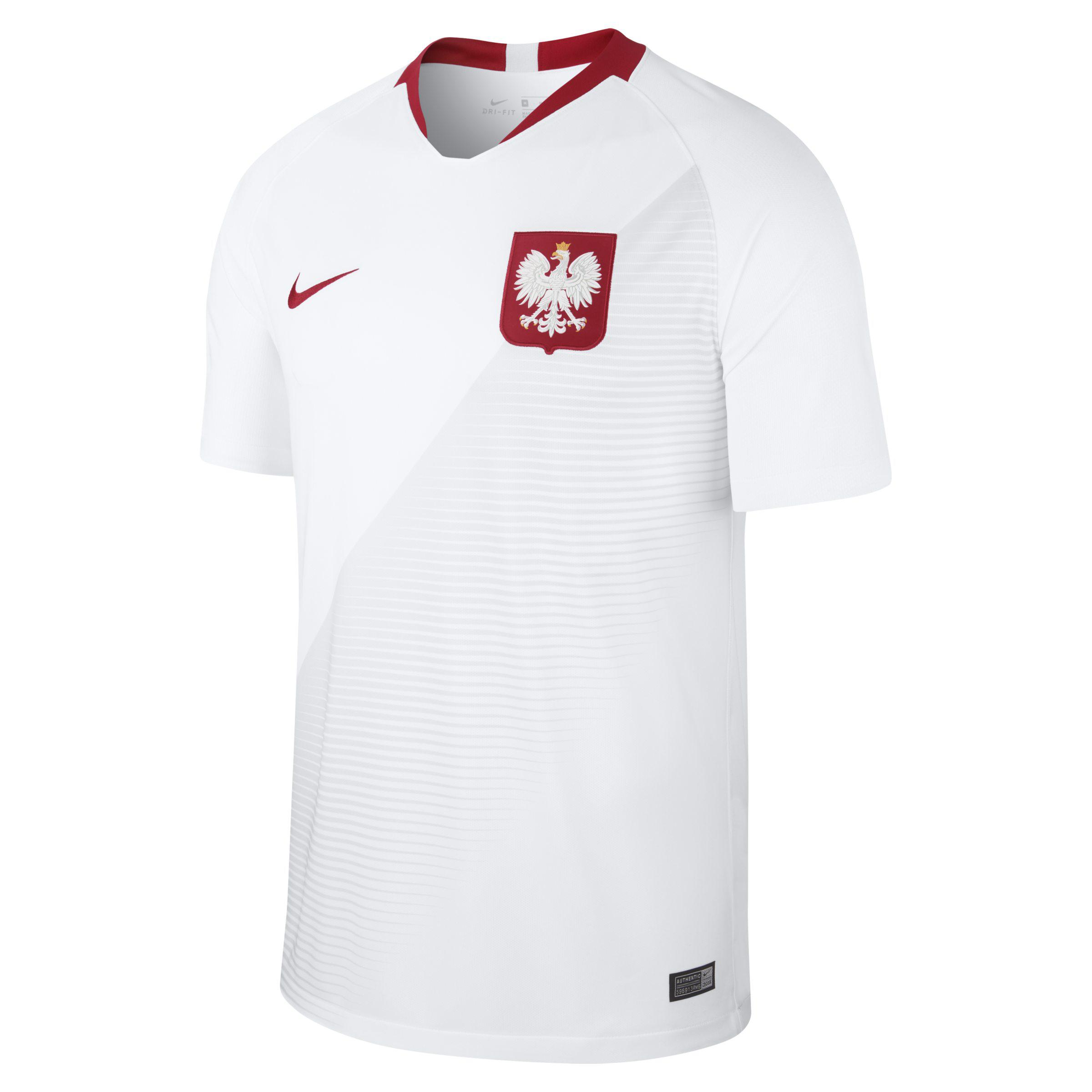 0c6ac506c Nike 2018 Poland Stadium Home Football Shirt in White for Men - Lyst
