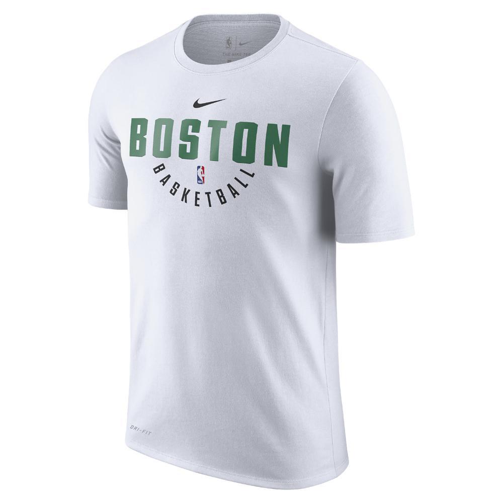 sports shoes 9227e e6f38 Nike White Boston Celtics Dry Men's Nba T-shirt for men