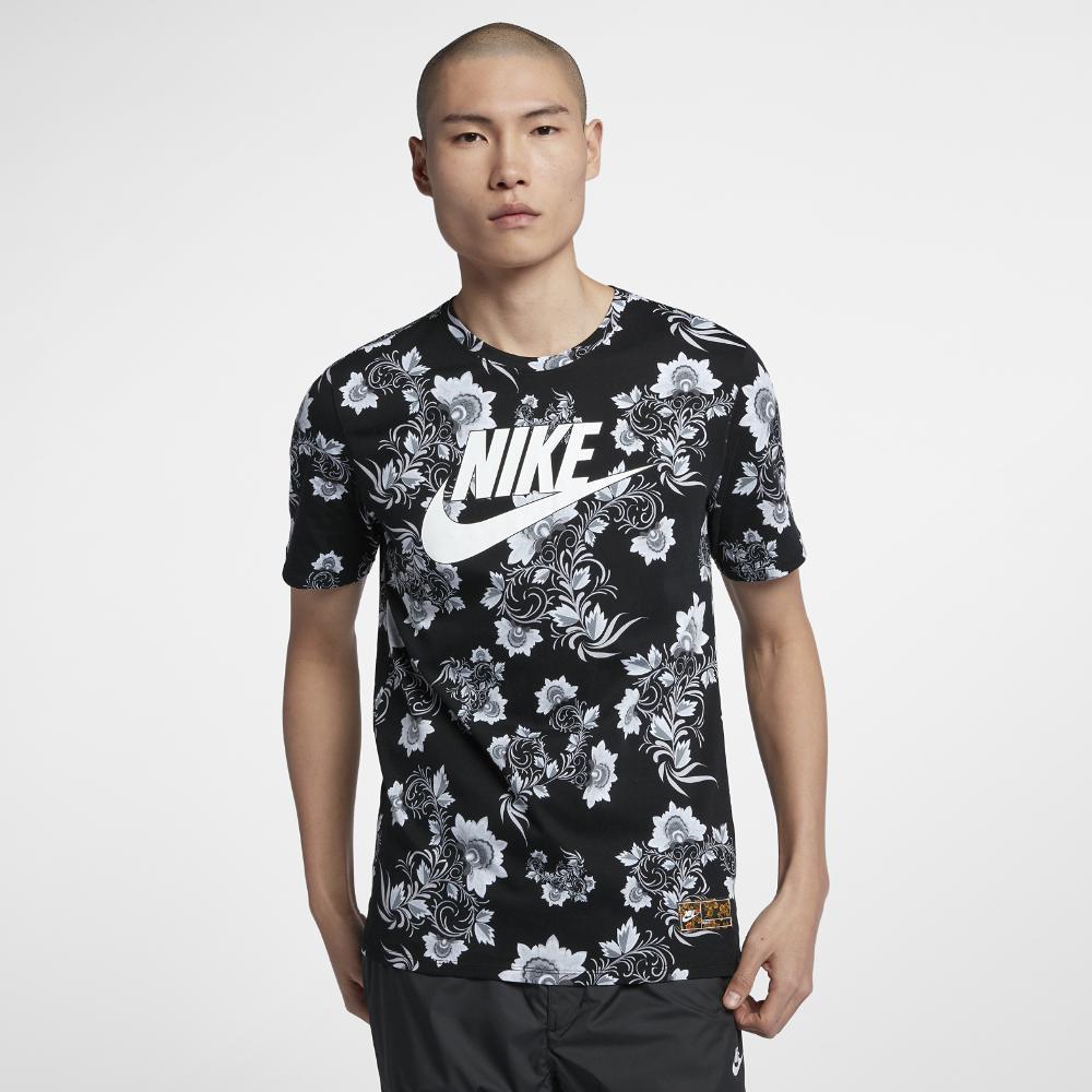 505246c6 Nike Sportswear Floral Men's T-shirt in Black for Men - Lyst