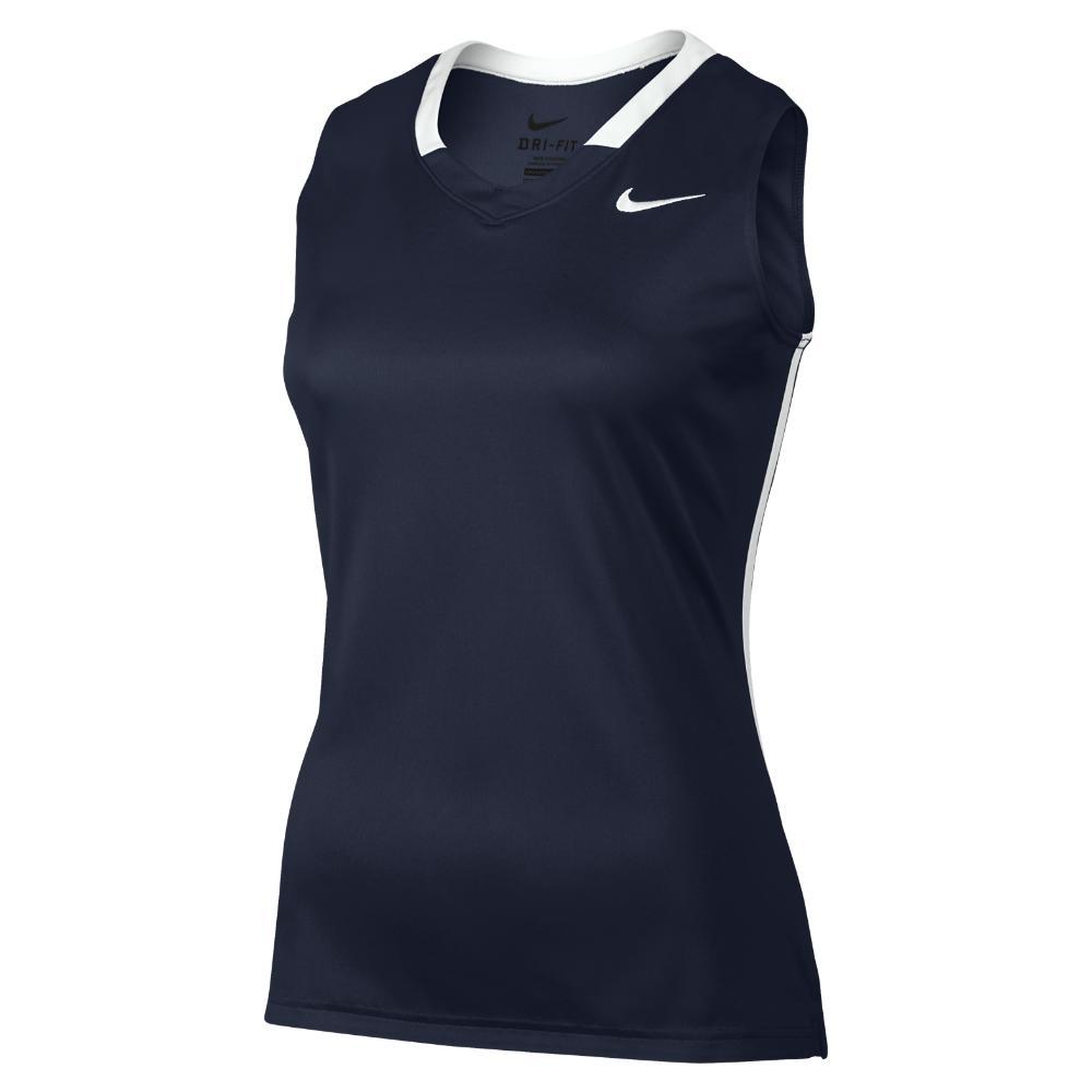 new style 70580 6562c Lyst - Nike Face-off Stock Women's Lacrosse Jersey in Blue