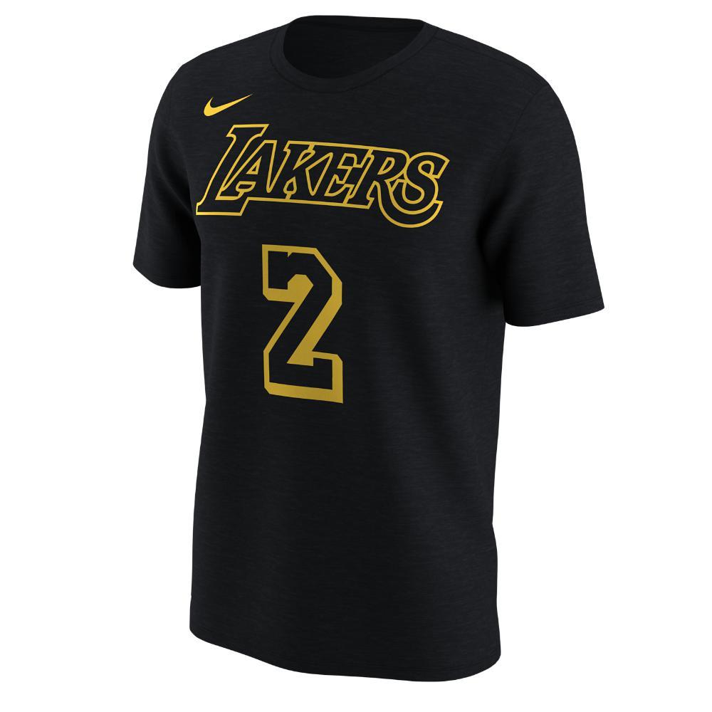 cheaper 6efe5 82cab Black Los Angeles Lakers City Edition (lonzo Ball) Dri-fit Men's Nba T-shirt
