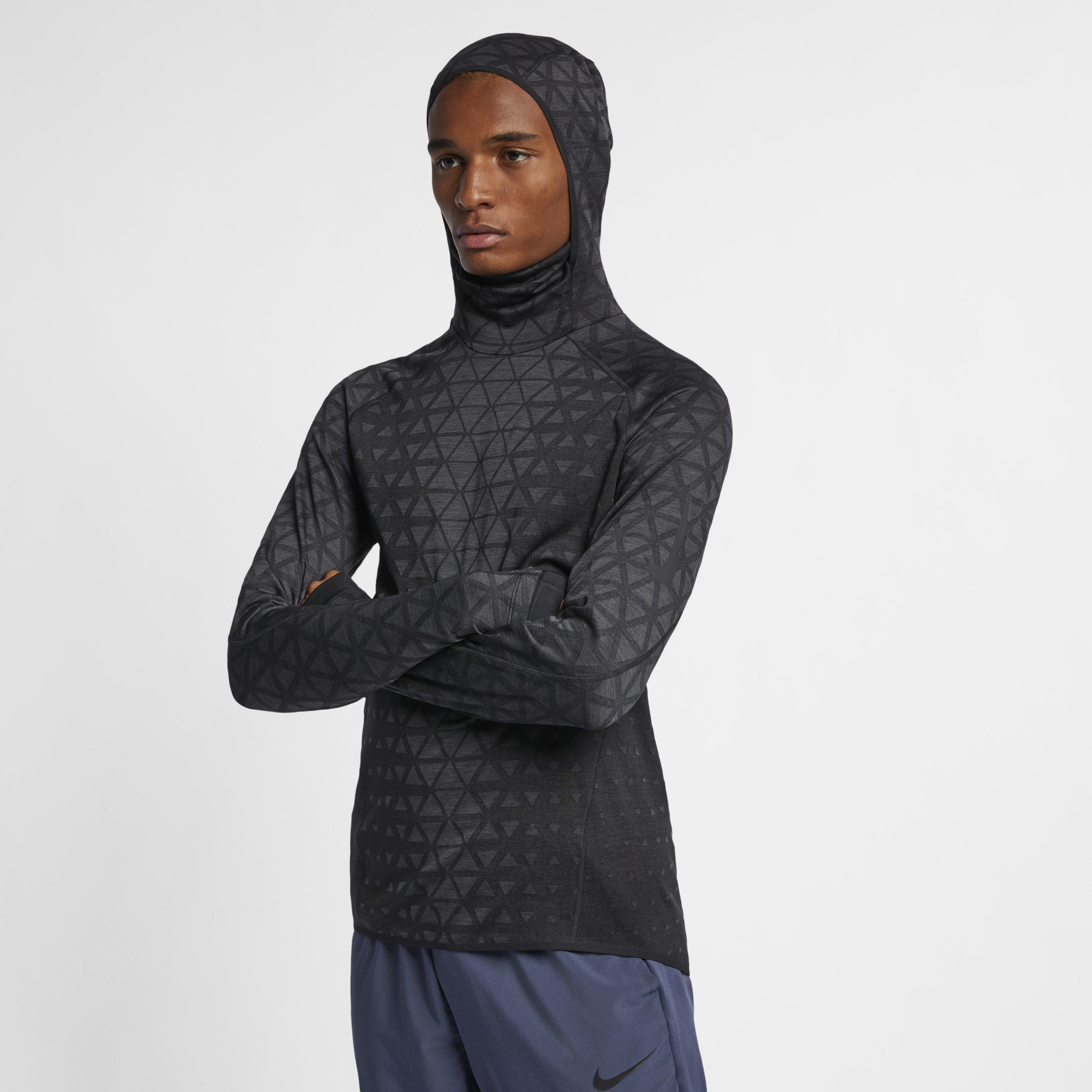 Antemano Barrio Discriminación  Nike Therma-sphere Premium Long-sleeve Training Top in Black for Men - Lyst