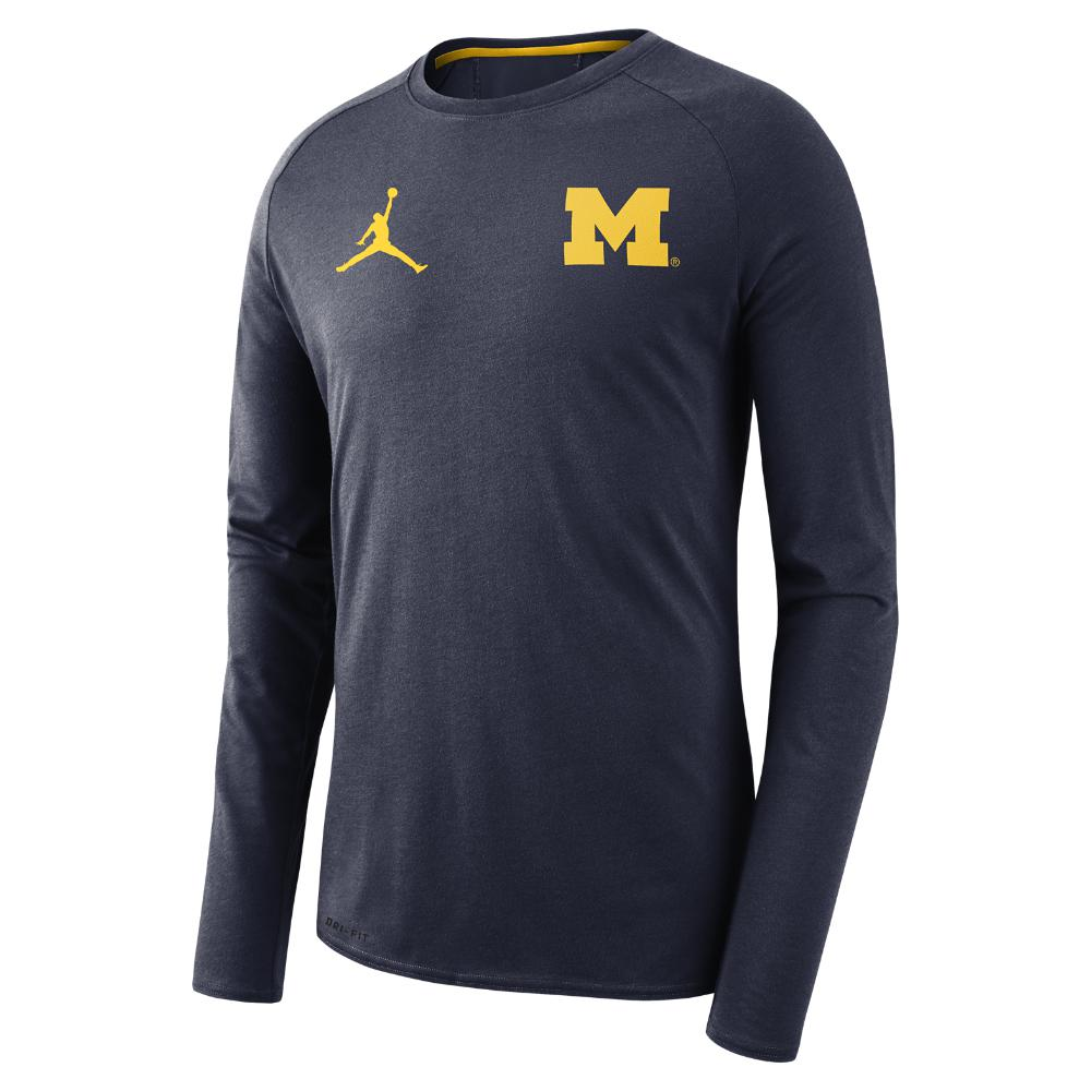 caea8ca70bbd Lyst - Nike College 23 Alpha Dri-fit (michigan) Men s Long Sleeve ...