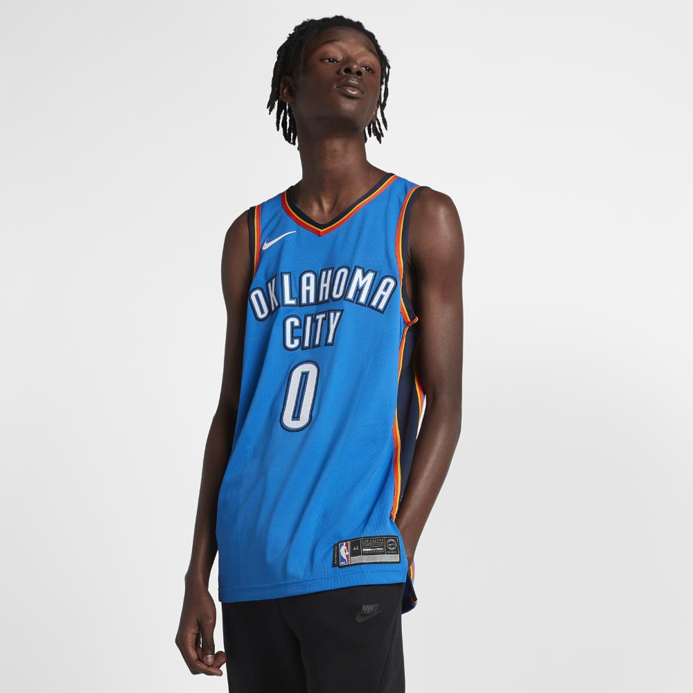 7048773937f Nike. Blue Russell Westbrook Icon Edition Authentic Jersey (oklahoma City  Thunder) Men s Nba Connected Jersey