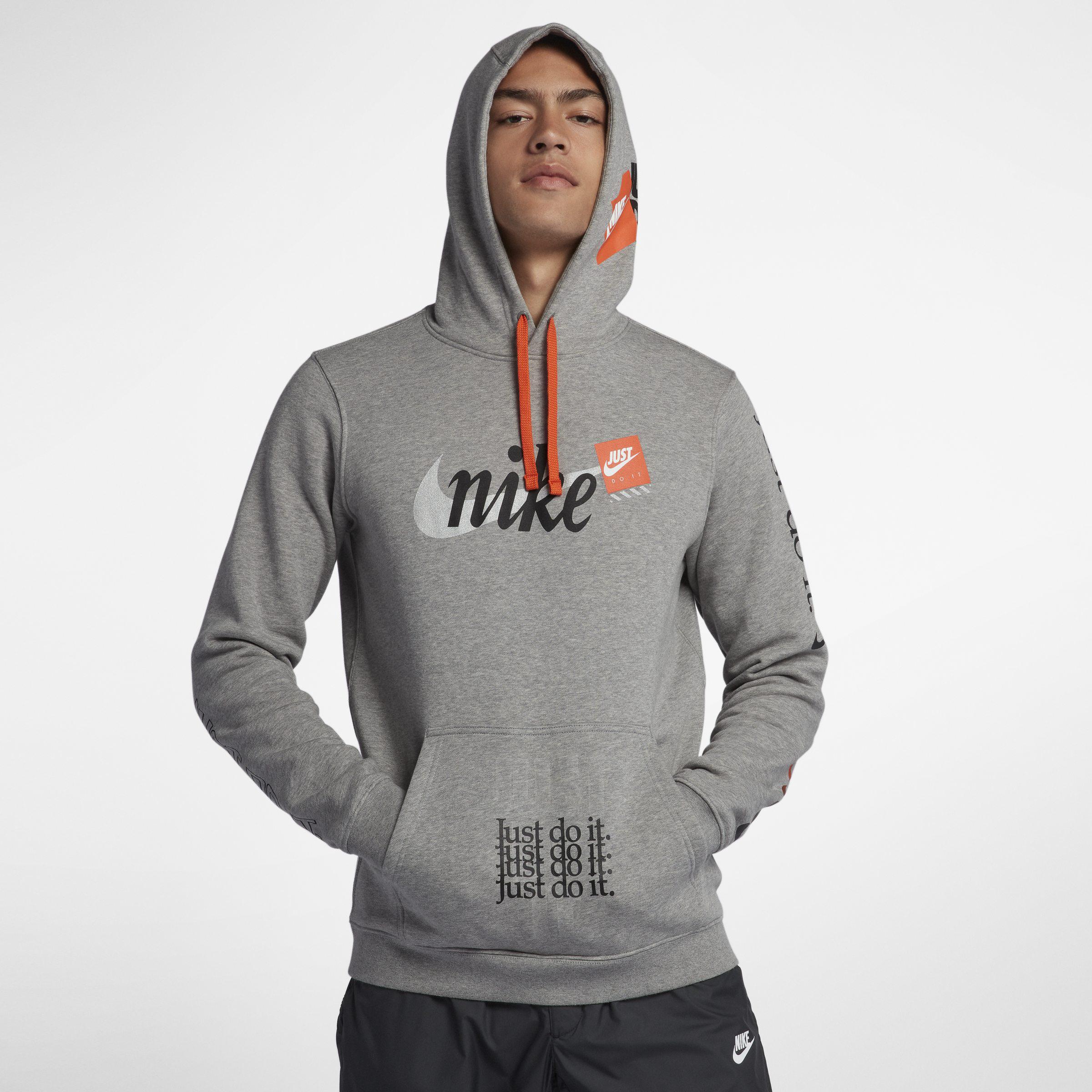 a337ff3f0 Nike Sportswear Club Fleece Jdi Pullover Hoodie in Gray for Men - Lyst