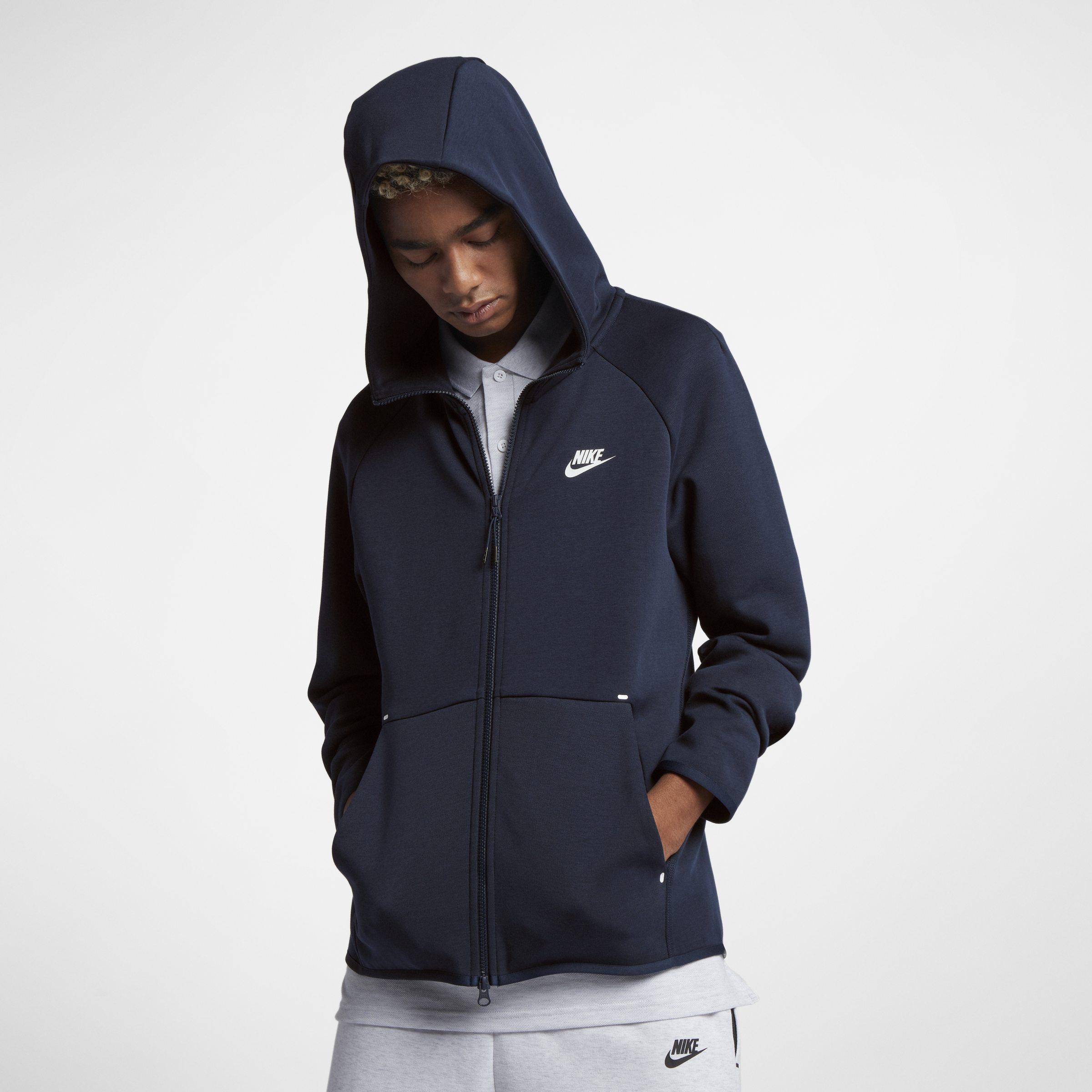 Entièrement Homme Zippé Sportswear Tech Pour Capuche Sweatà Fleece BQrdoeExCW