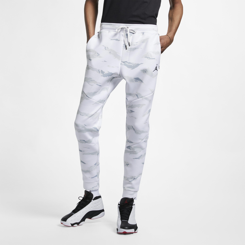 d75ad95ee25fec Nike Jordan Sportswear Flight Tech Camo Trousers in White for Men - Lyst