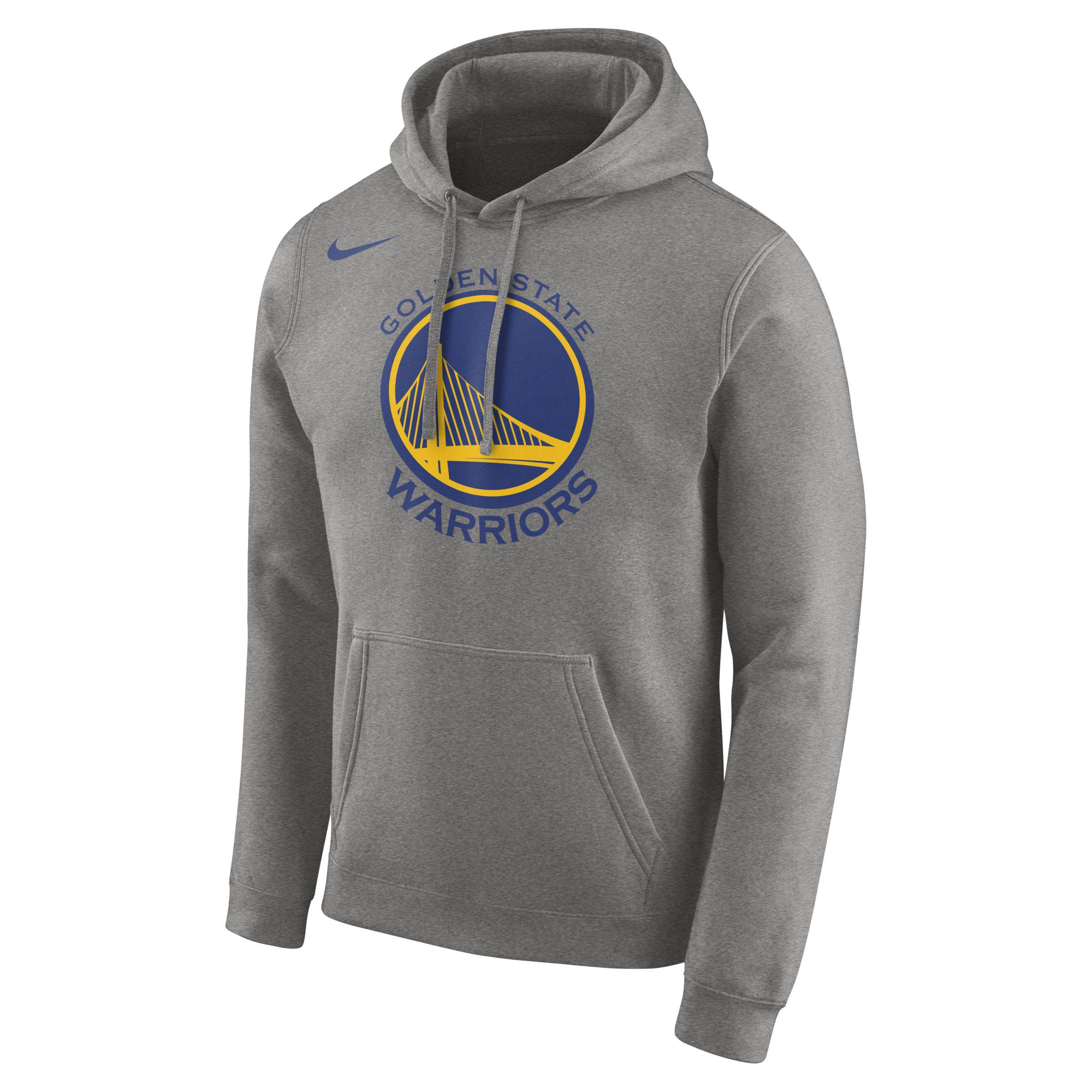94201f8dbce5 Nike Golden State Warriors Logo Nba Hoodie in Gray for Men - Lyst