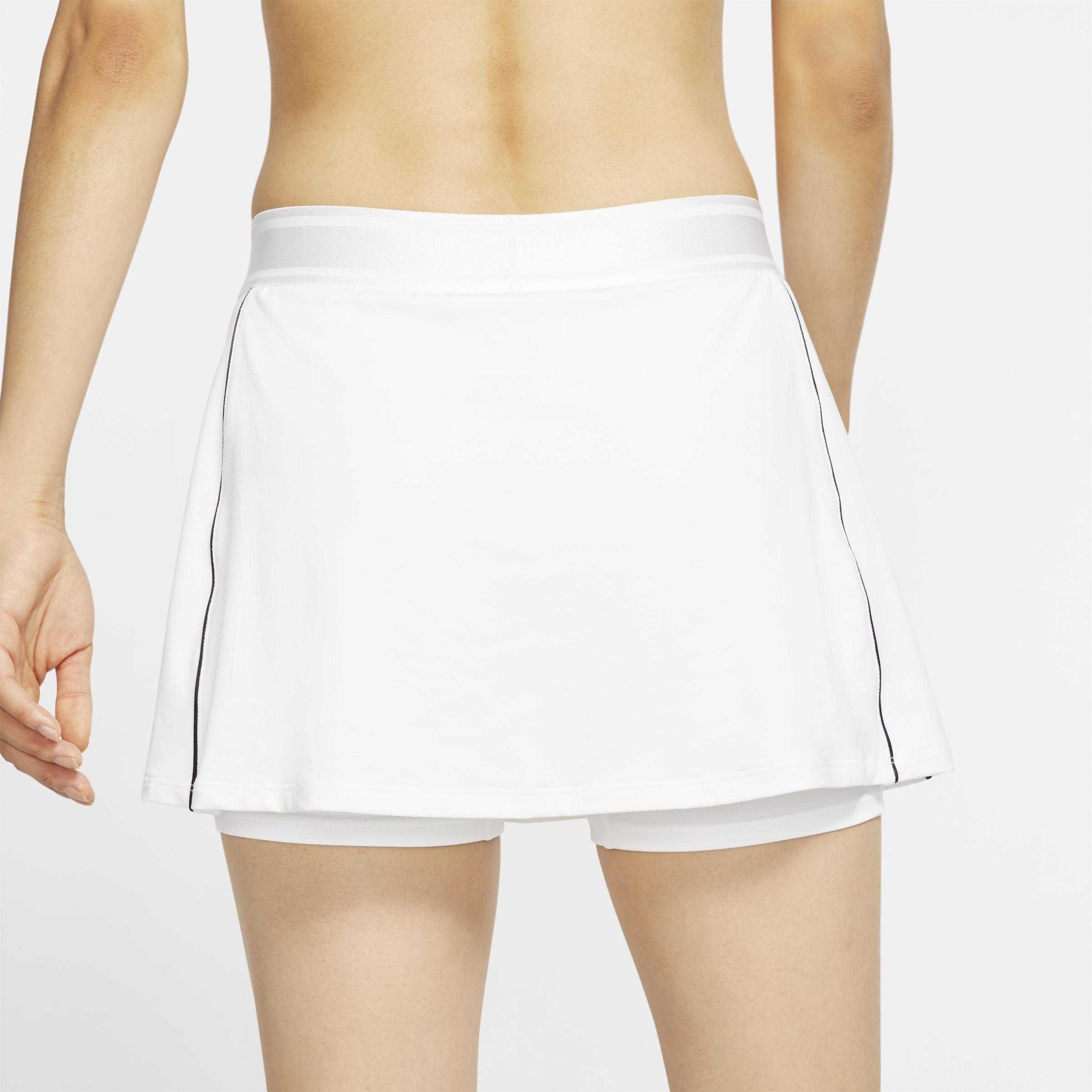 Jupe de tennis Court Dri-FIT pour Nike en coloris Blanc