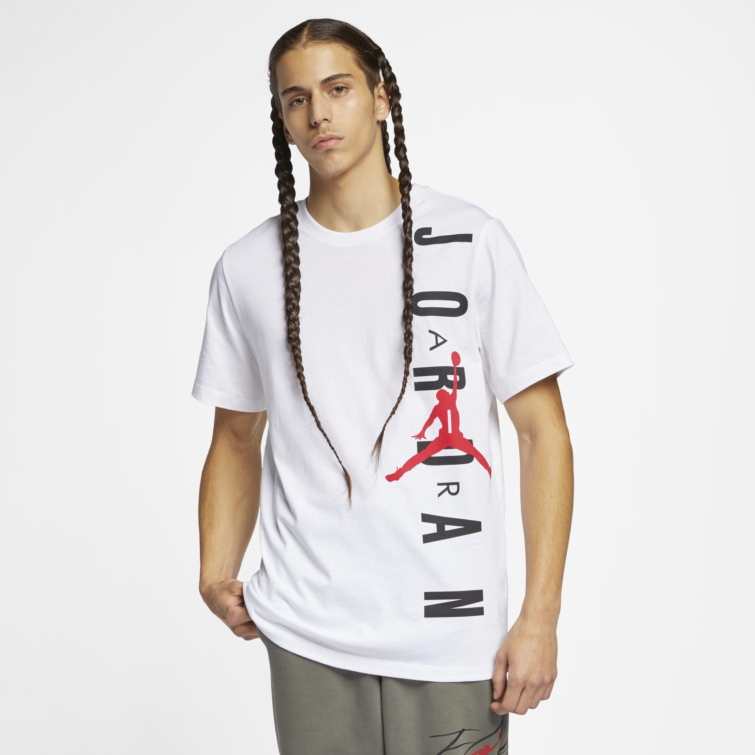 42fab5791c60 Nike Jordan Vertical T-shirt in White for Men - Lyst