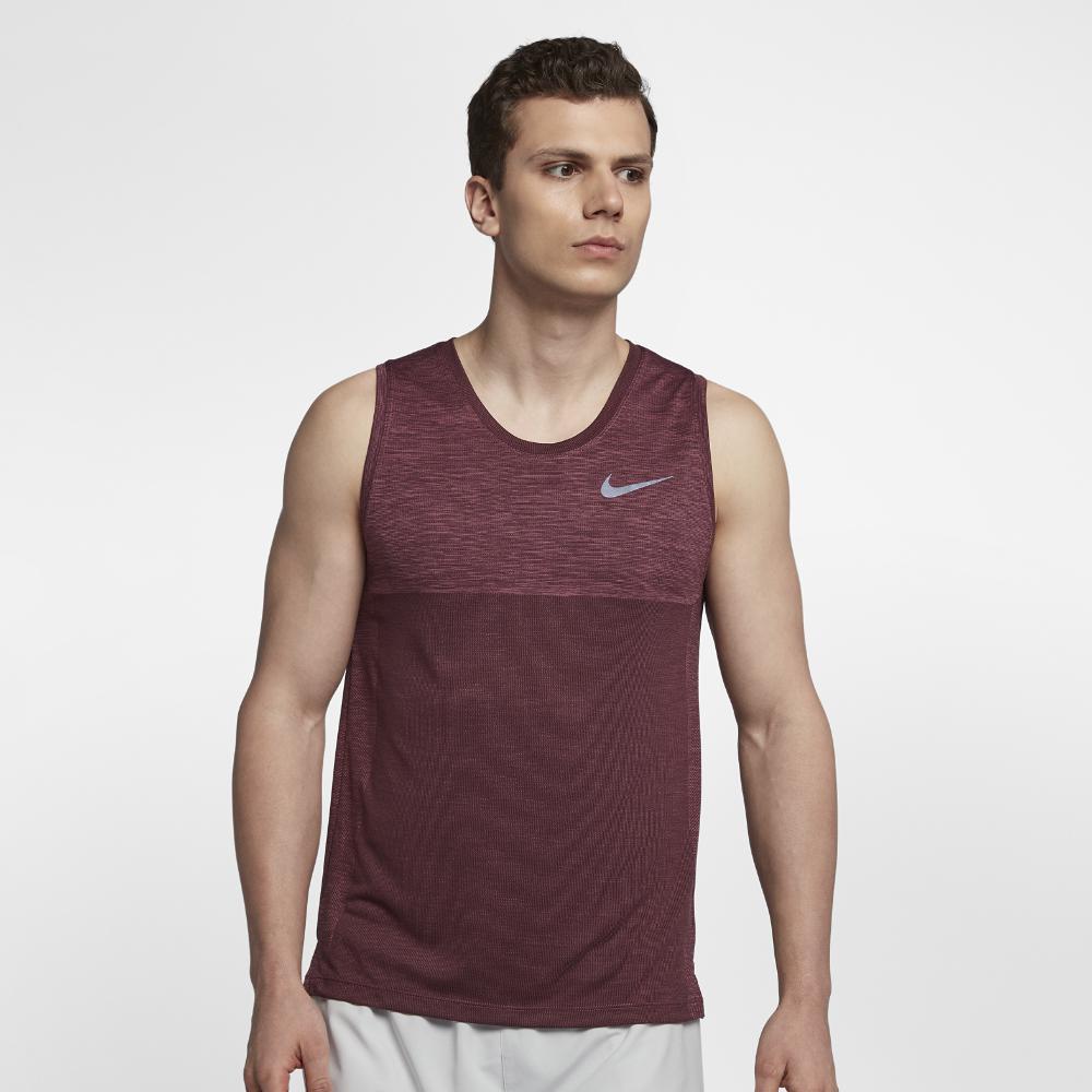 Especializarse Incierto la carretera  Nike Dri-fit Medalist Men's Running Tank in Purple for Men - Lyst