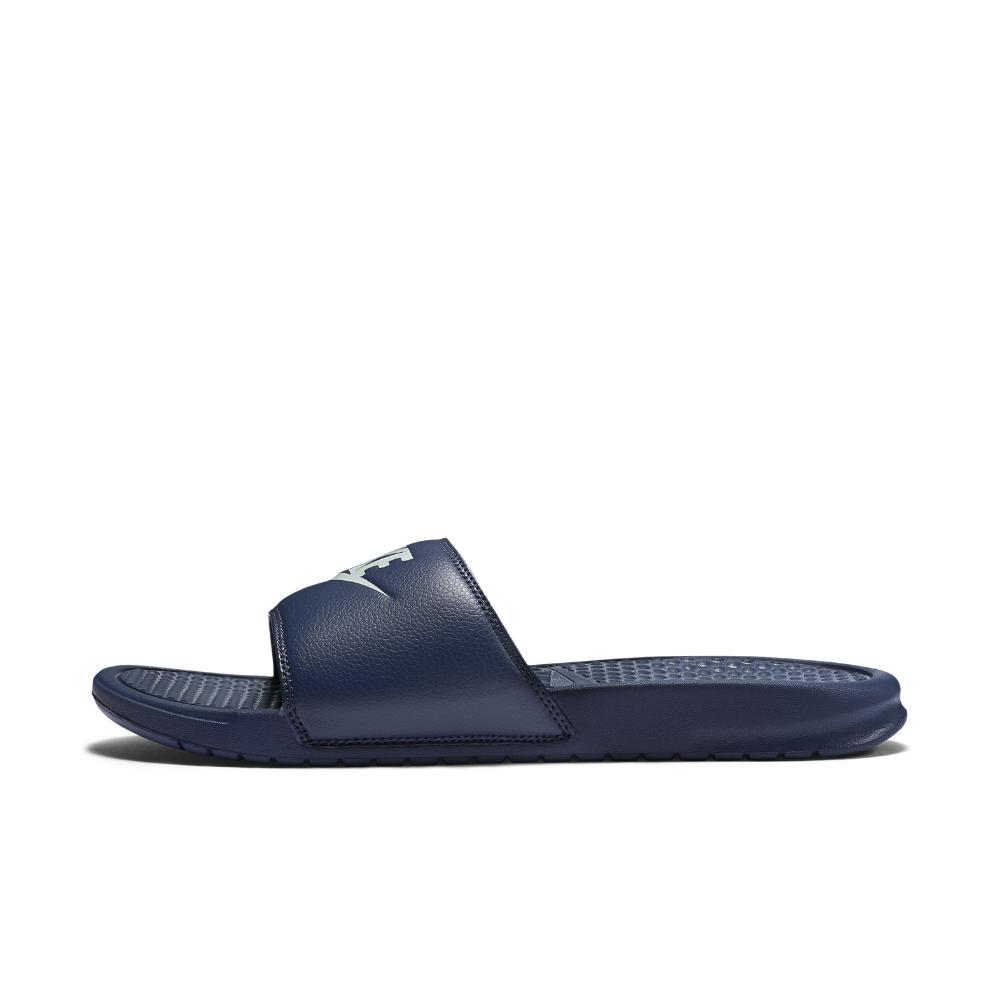 Nike. Blue Benassi Just Do It Men's Slide Sandal