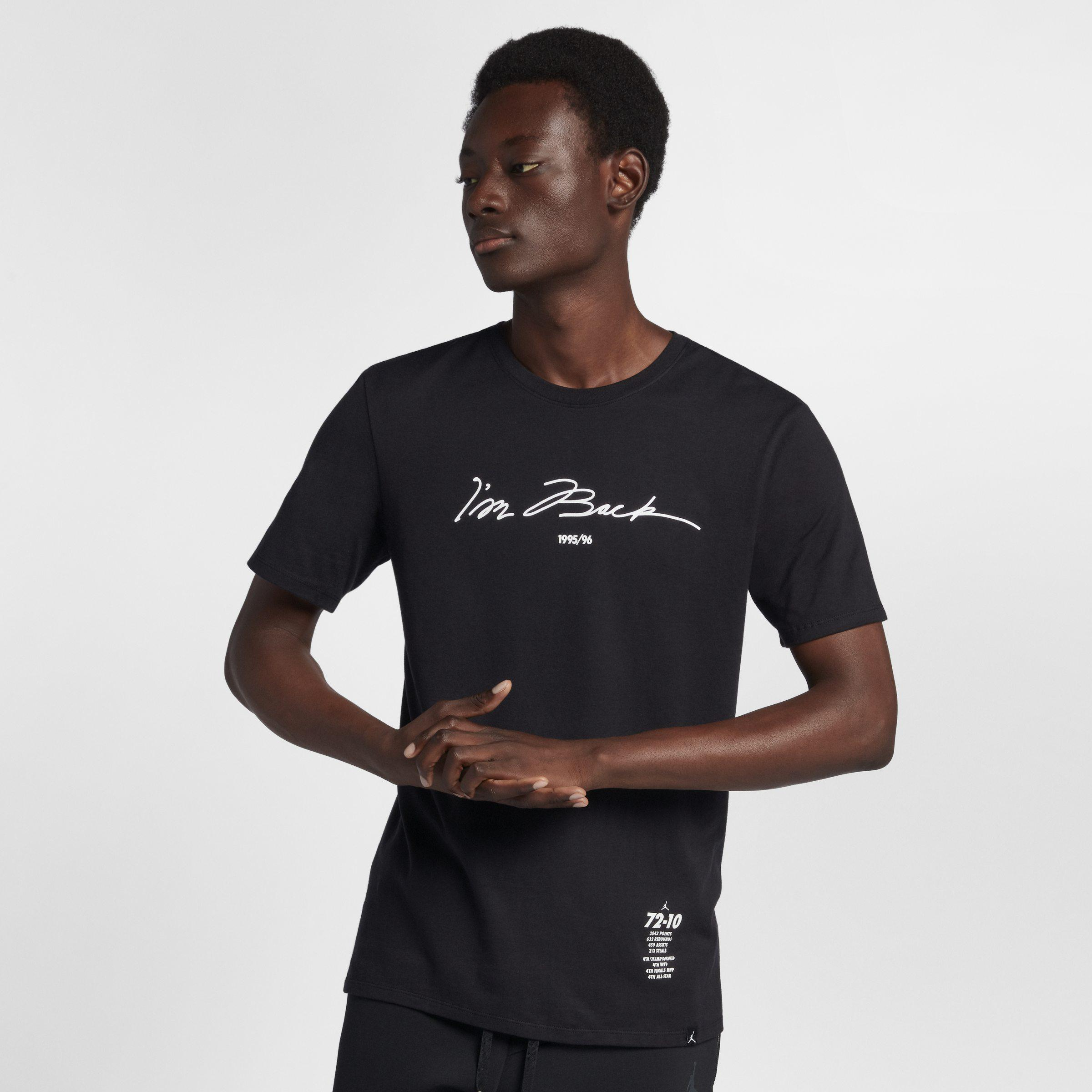 detailed look 62740 09b3b Nike Cotton Jordan Sportswear Legacy Aj 11 T-shirt in Black ...
