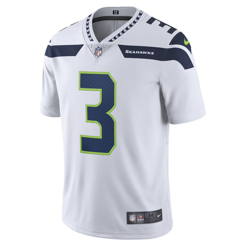 2d5e9d0a14c Nike. Men's White Nfl Seattle Seahawks (russell Wilson) American Football  Away Game Jersey