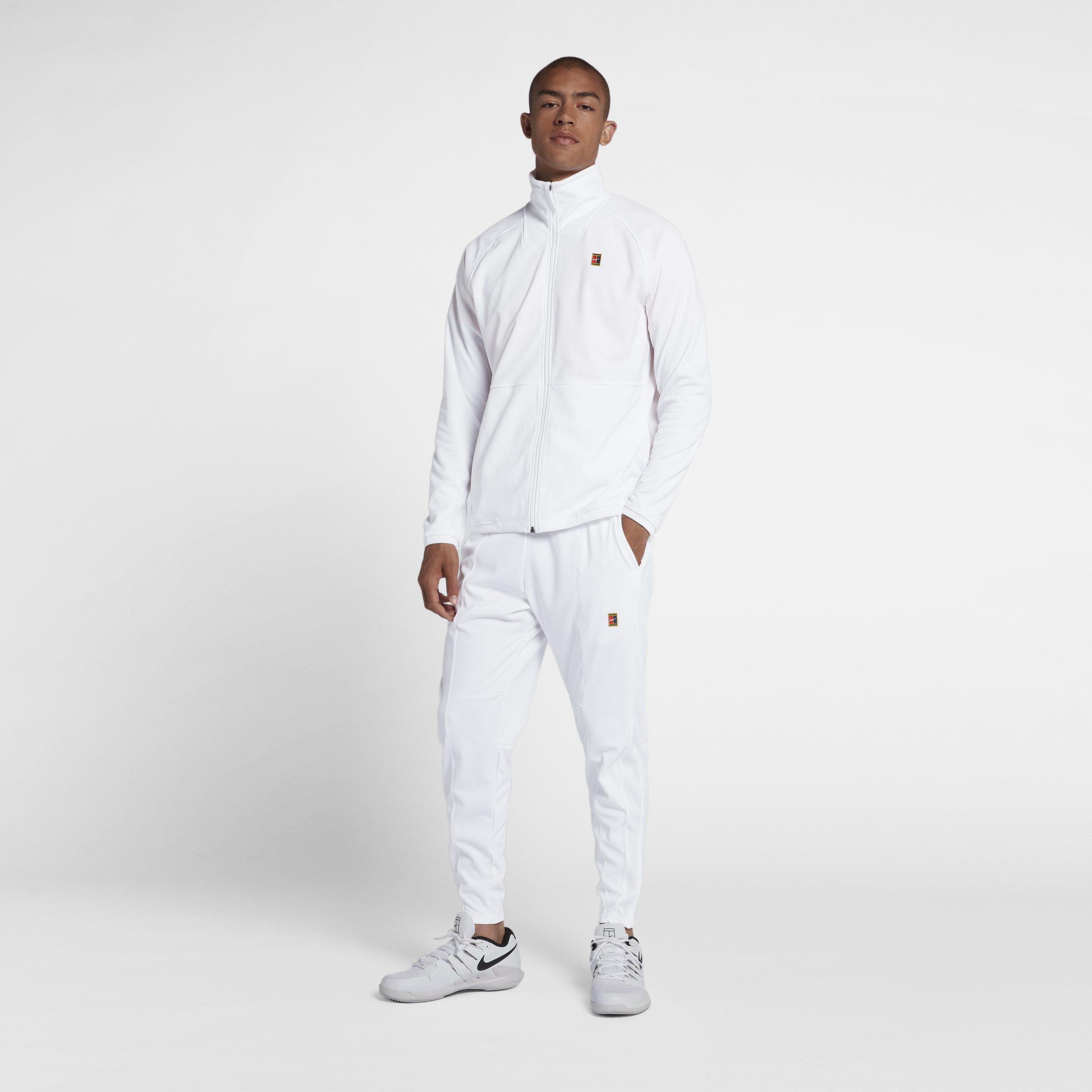 best supplier popular stores the latest Nike Court Tennis-Trainingsanzug für Herren in Weiß für ...