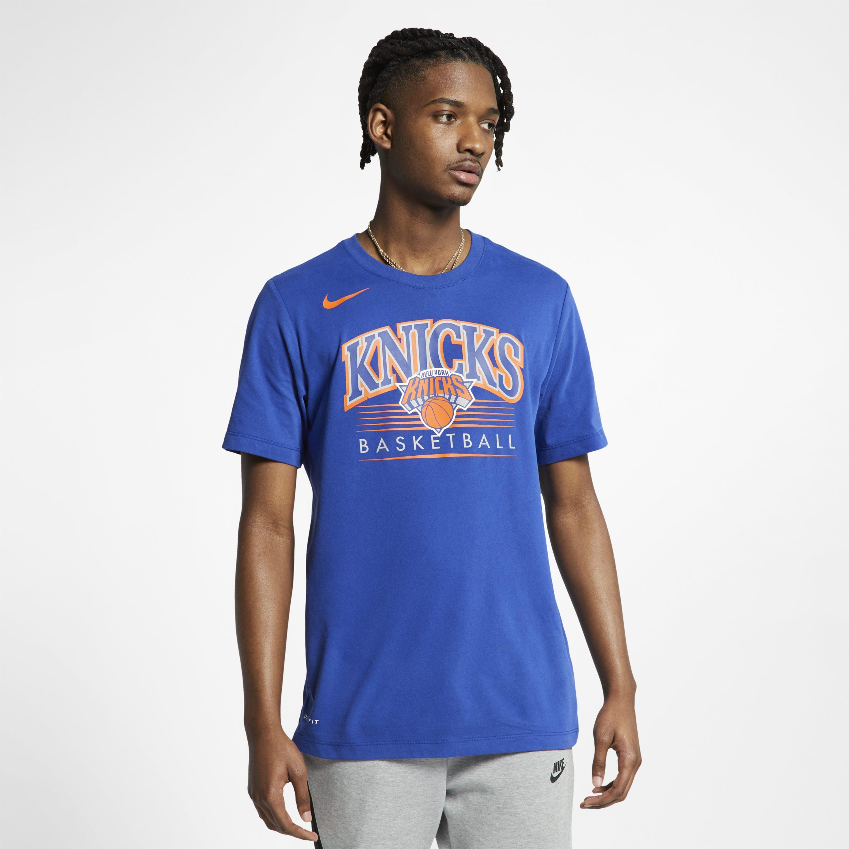 007bddb9393 Nike New York Knicks Dri-fit Nba T-shirt in Blue for Men - Lyst