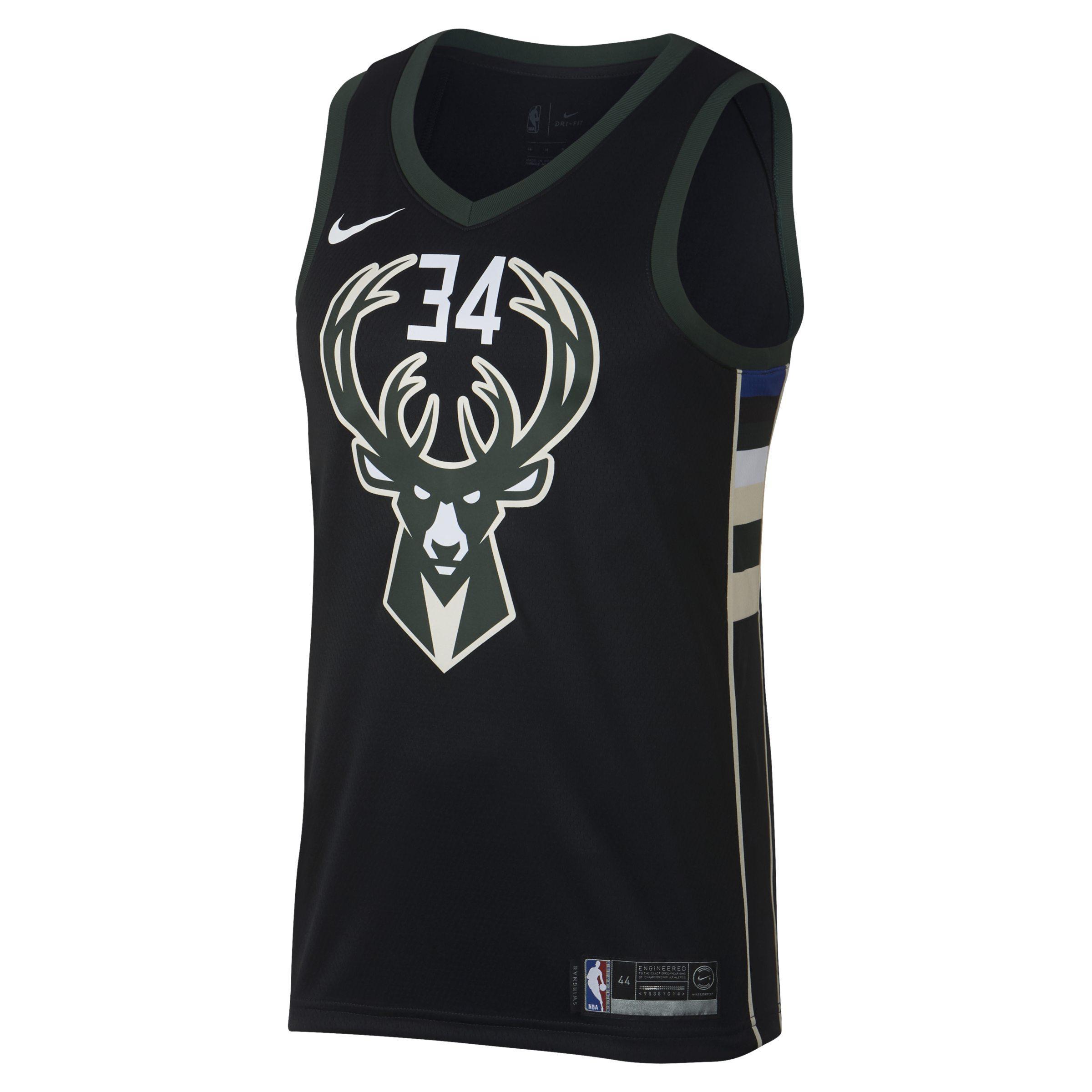 Nike. Black Giannis Antetokounmpo Statement Edition Swingman (milwaukee  Bucks) ... ce8e2364a