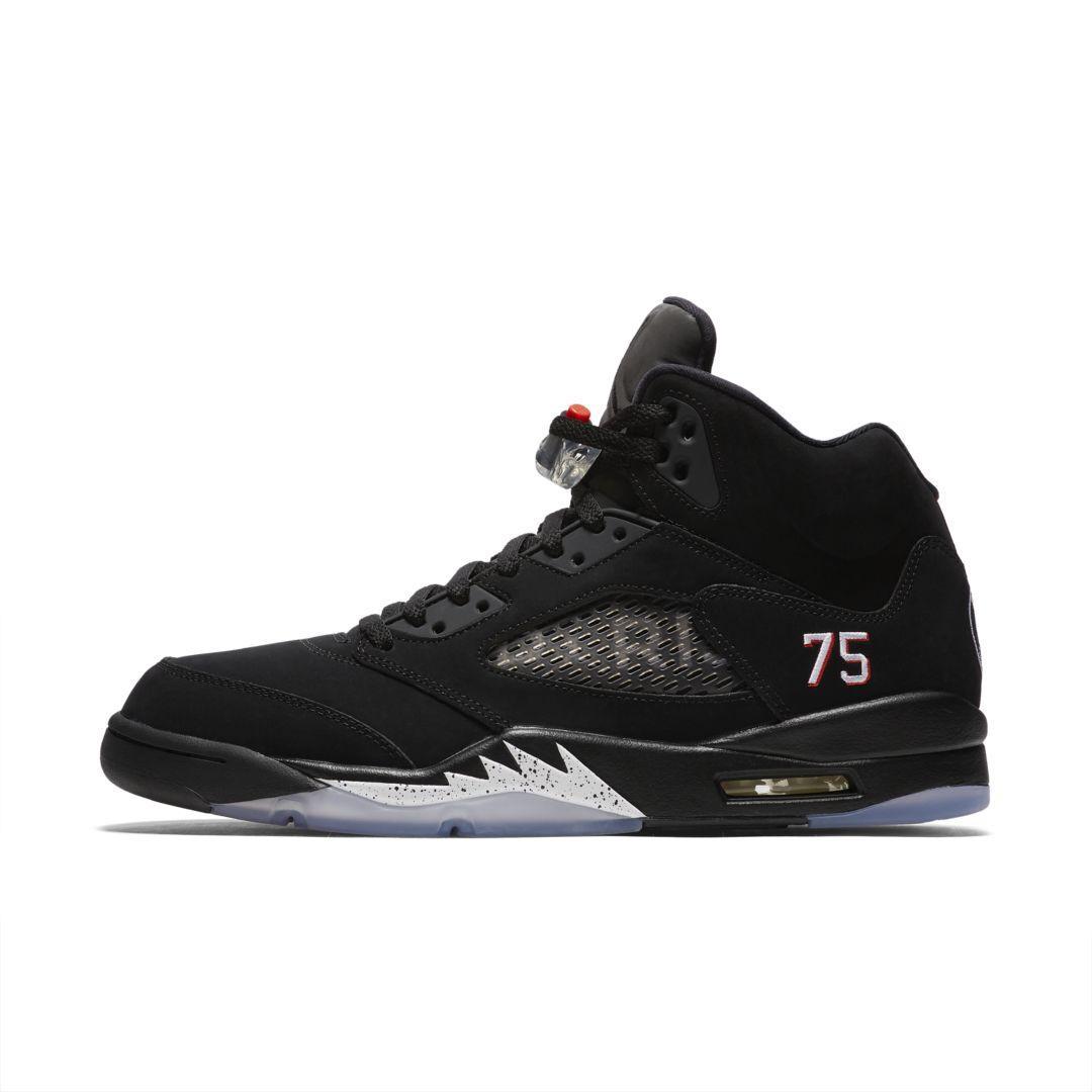 Nike Air Jordan 5 Retro X Paris Saint-germain Shoe in Black for ...