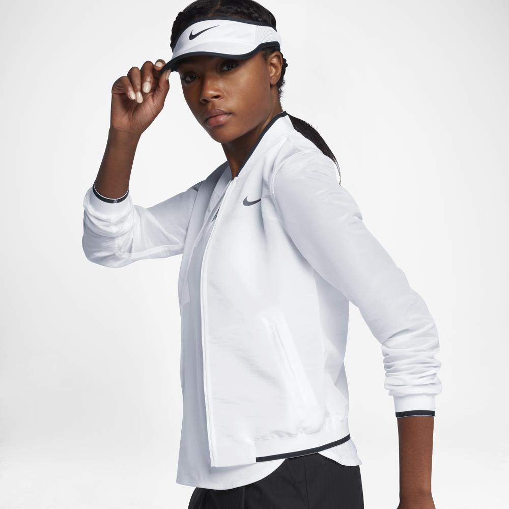7614f583c637 Lyst - Nike Court Maria Women s Tennis Jacket in White