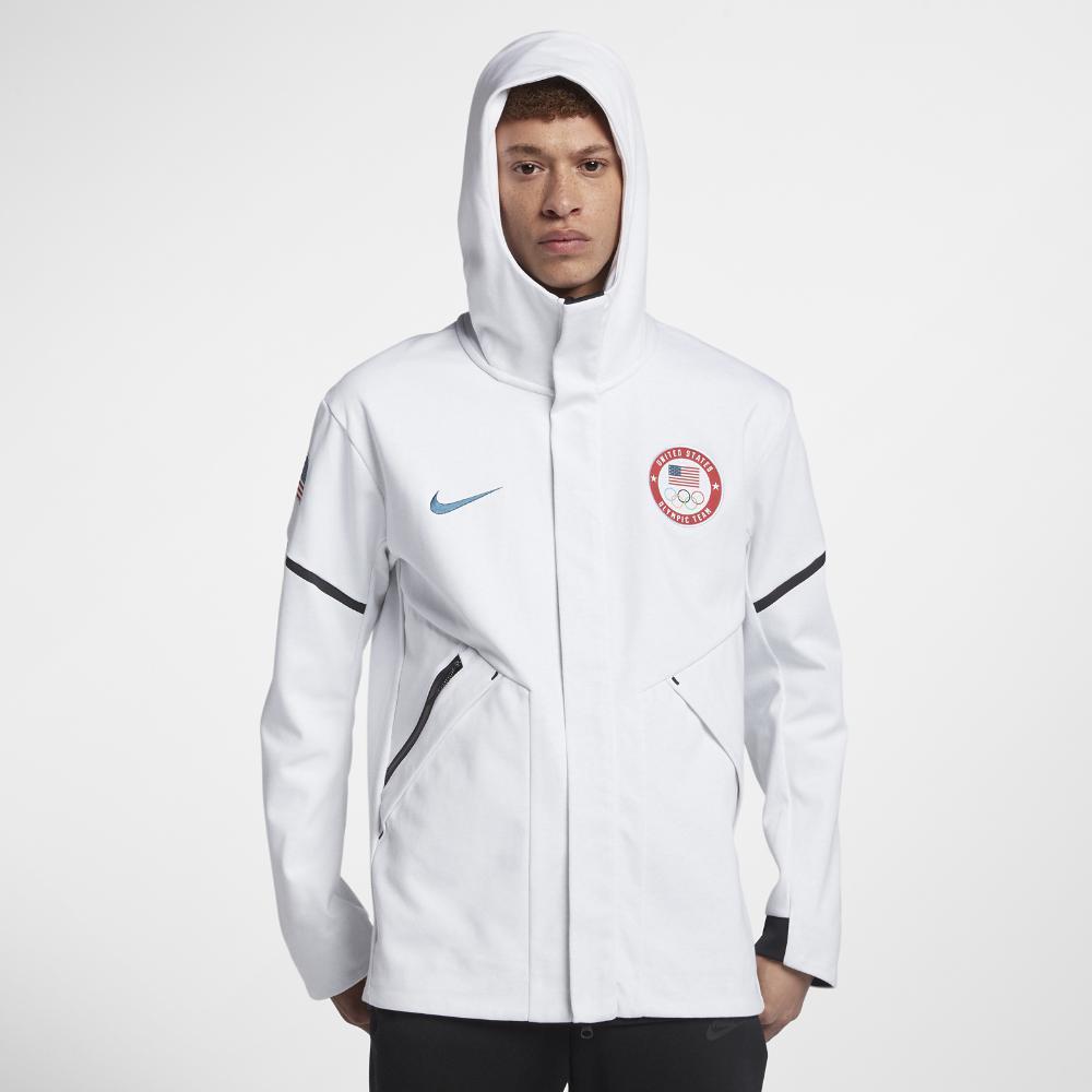 0962b2729b3a Lyst - Nike Tech Fleece Team Usa Windrunner Men s Jacket in White ...