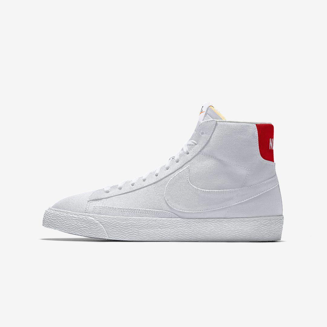 Nike Blazer Mid By You Custom Shoe in White for Men - Lyst