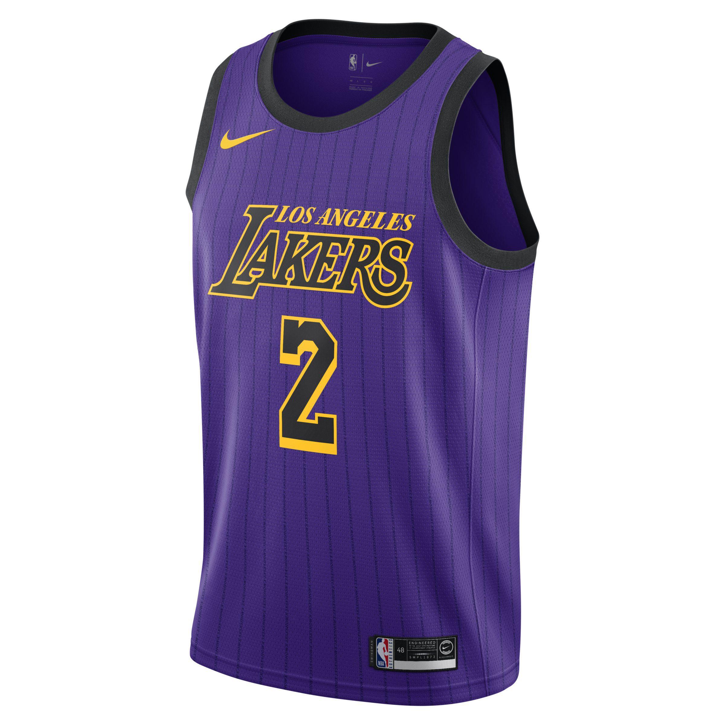 Nike. Men s Purple Lonzo Ball City Edition Swingman (los Angeles Lakers) Nba  Connected Jersey b29407cc9