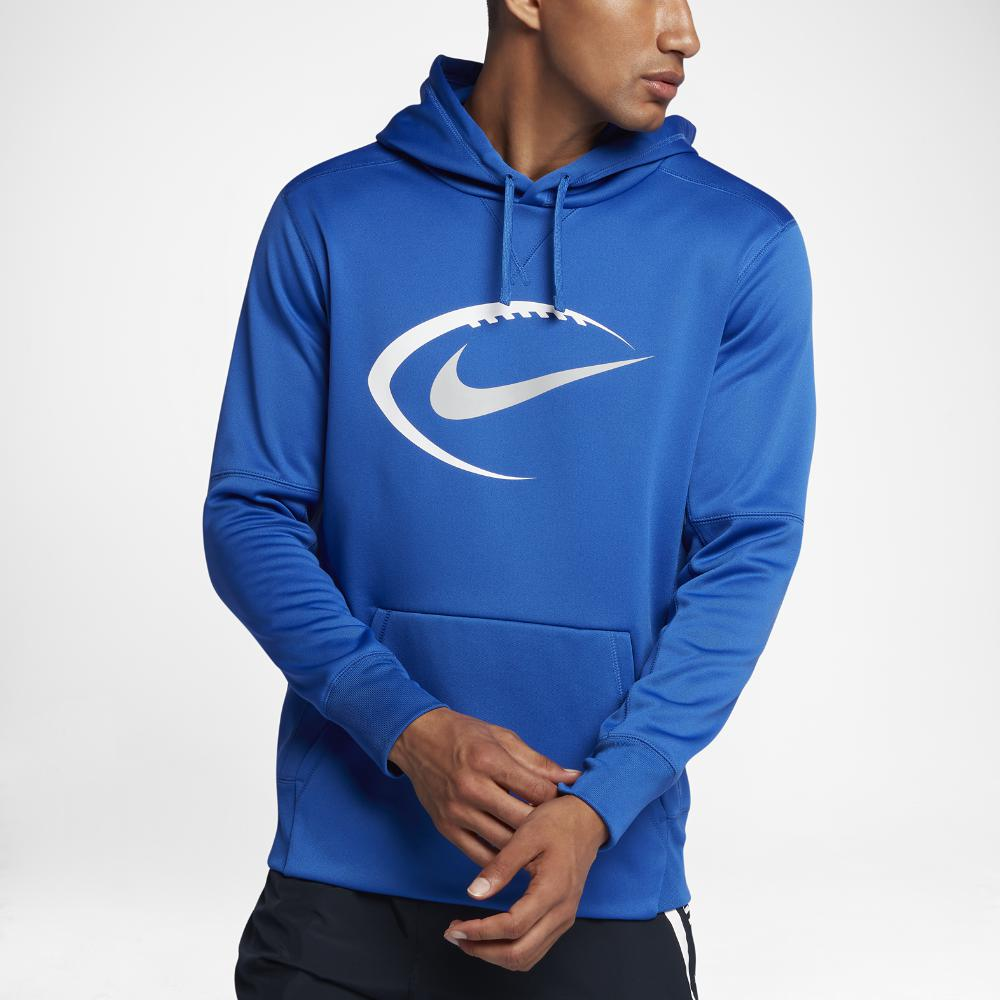 a3026ff01d54e Lyst - Nike Therma Men's Football Hoodie in Blue for Men