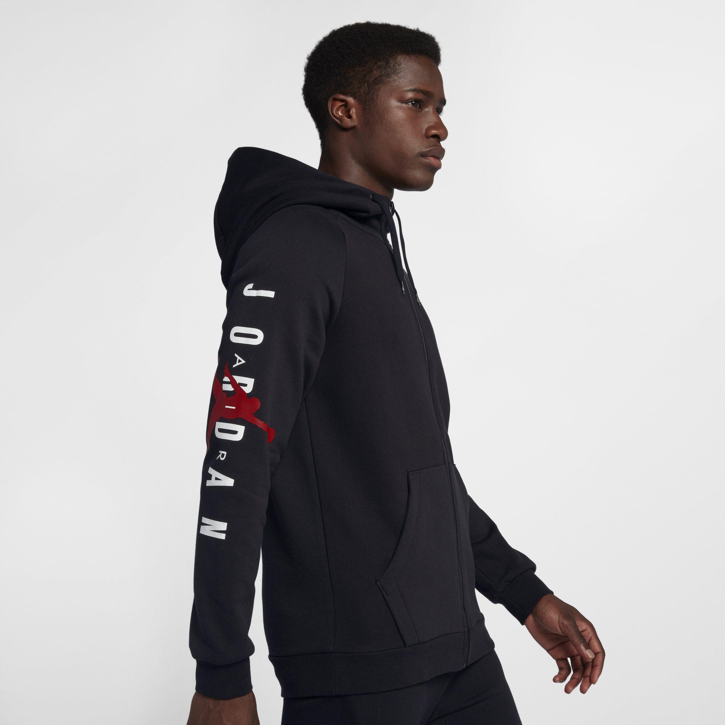 quality design 83ea6 6c1f4 Nike Jordan Jumpman Air Fleece Full-zip Hoodie in Black for Men - Lyst