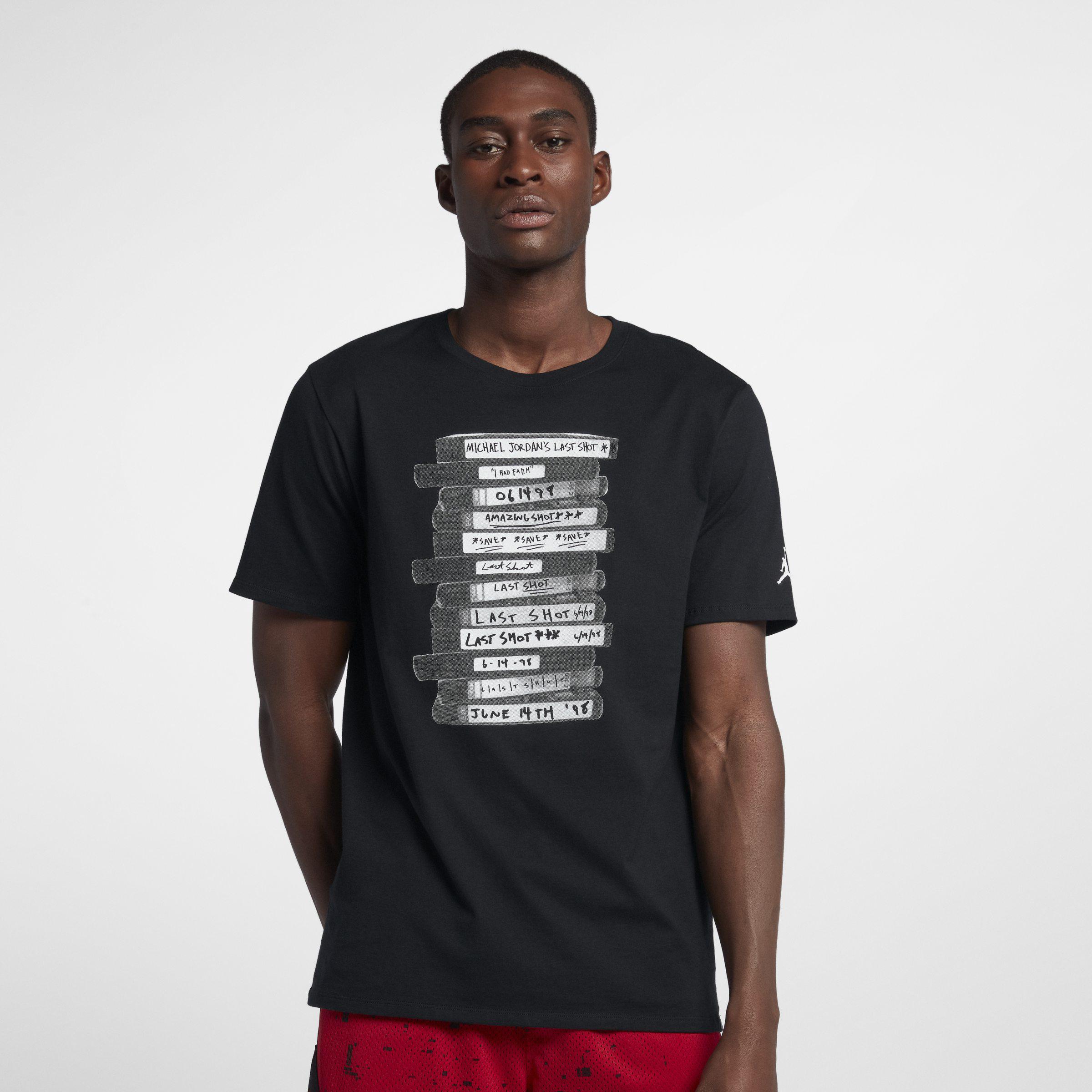 2413e5055a0171 Nike Jordan Lifestyle Last Shot T-shirt in Black for Men - Lyst