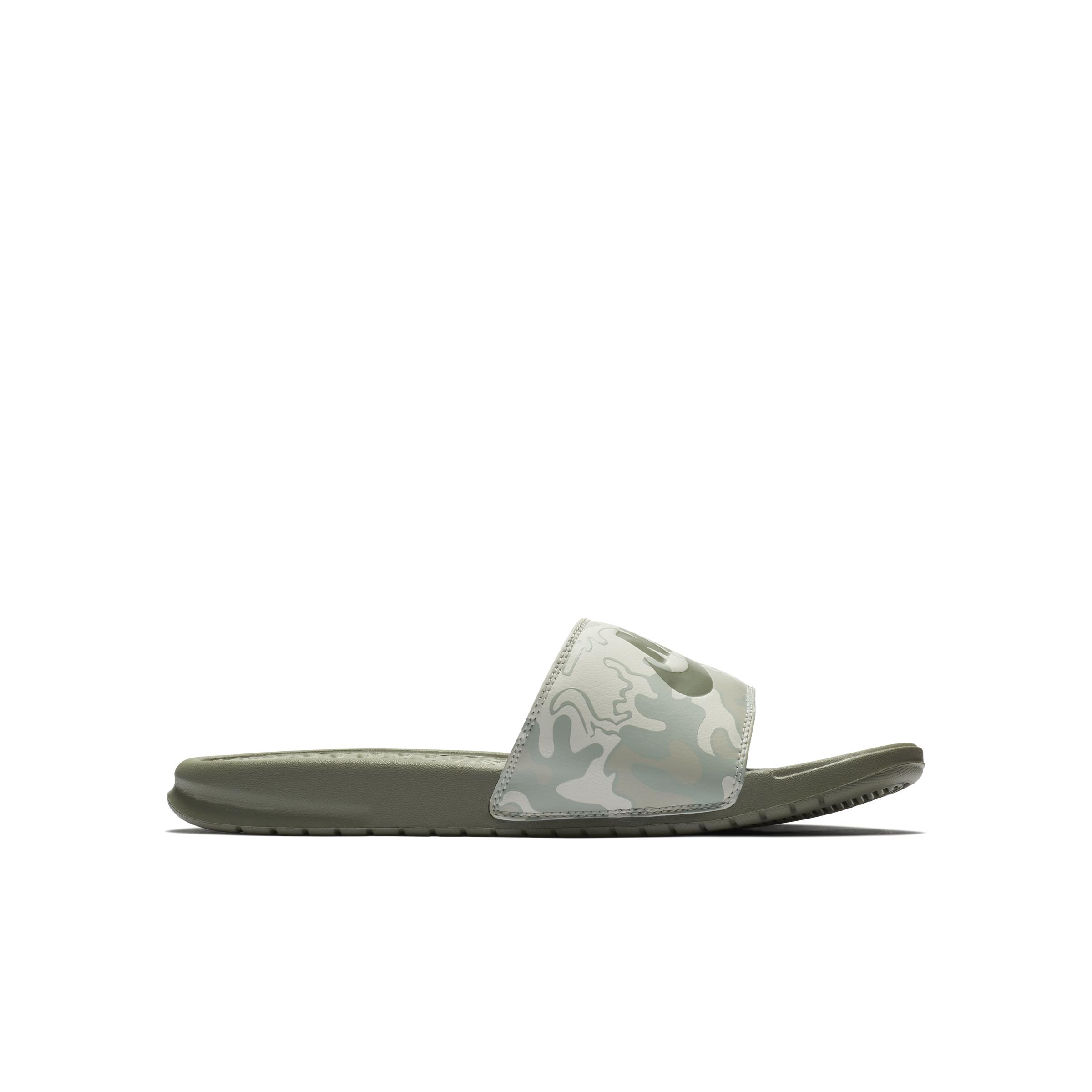 Nike Benassi JDI Printed Badeslipper in Grau für Herren Lyst