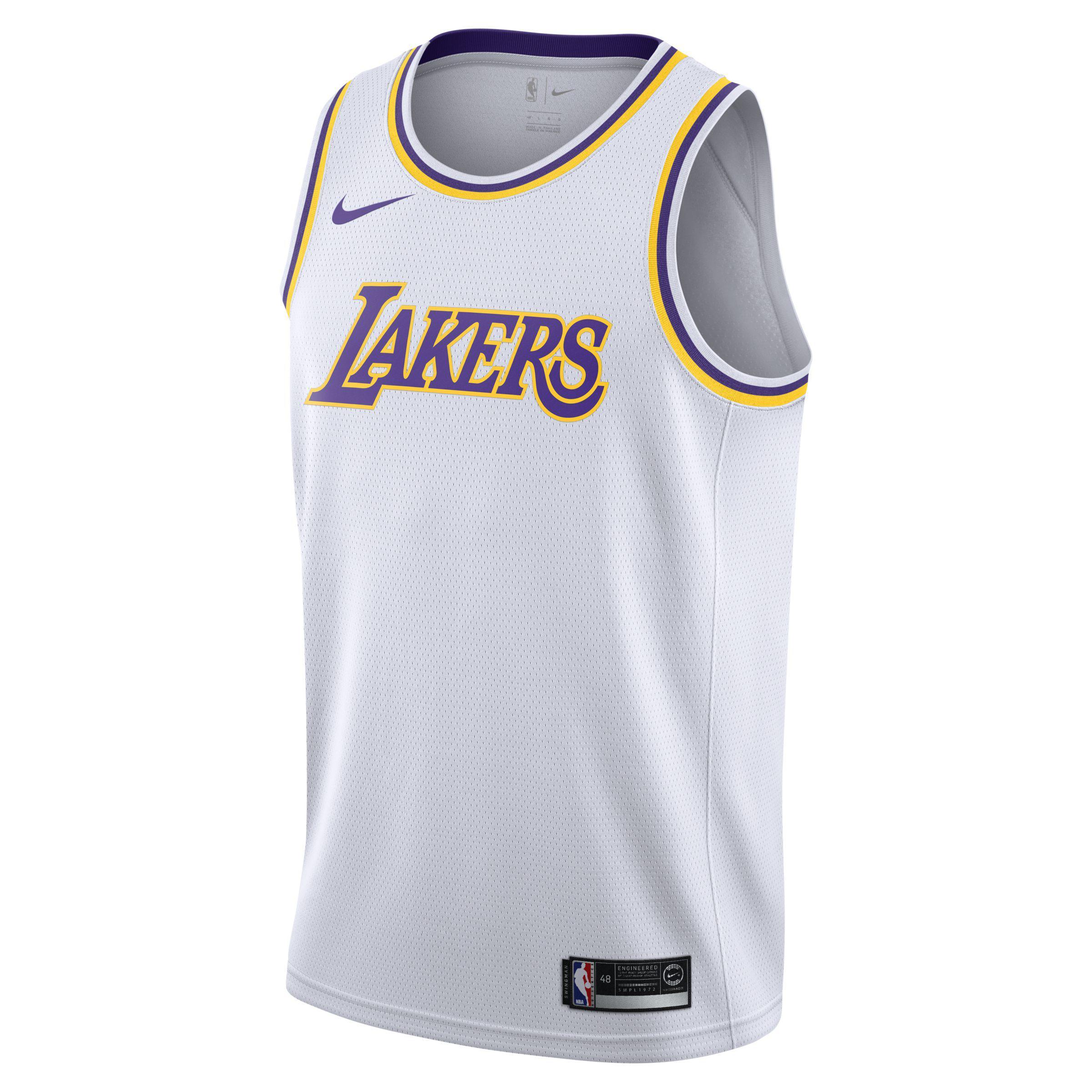 Nike Association Edition Swingman (los Angeles Lakers) Nba Connected ... c188c807c