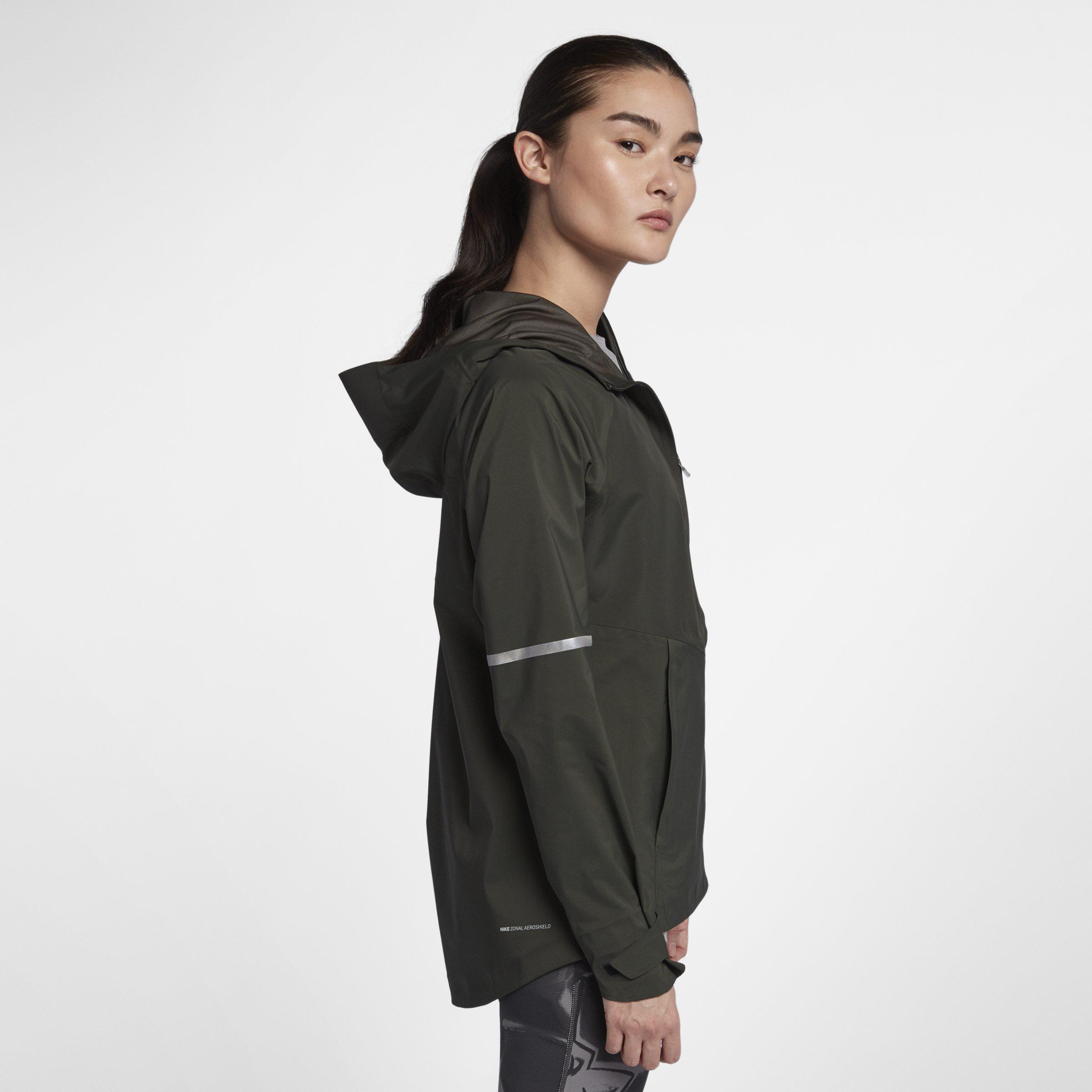 6aa10db381afd Nike Zonal Aeroshield Running Jacket in Green - Lyst