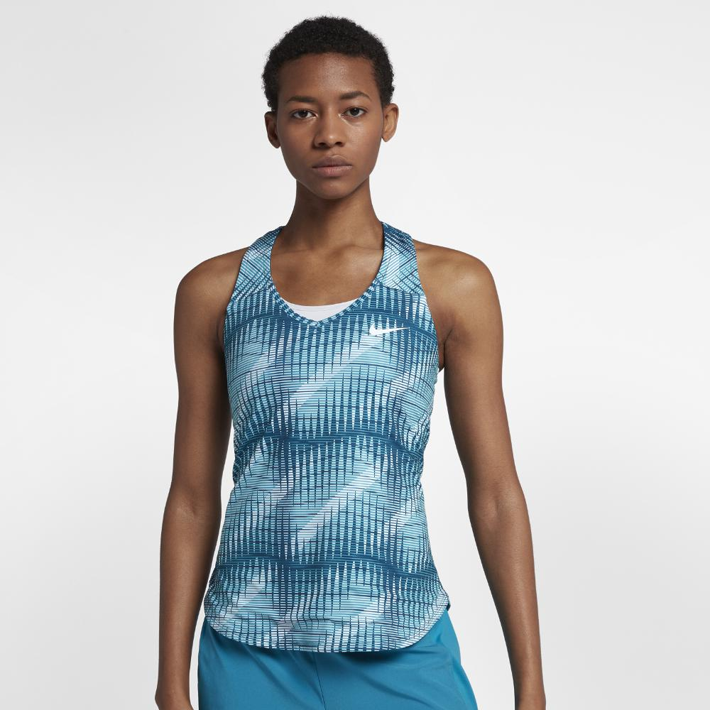 6d8e628f4fb99 Lyst - Nike Court Pure Women s Tennis Tank Top in Blue