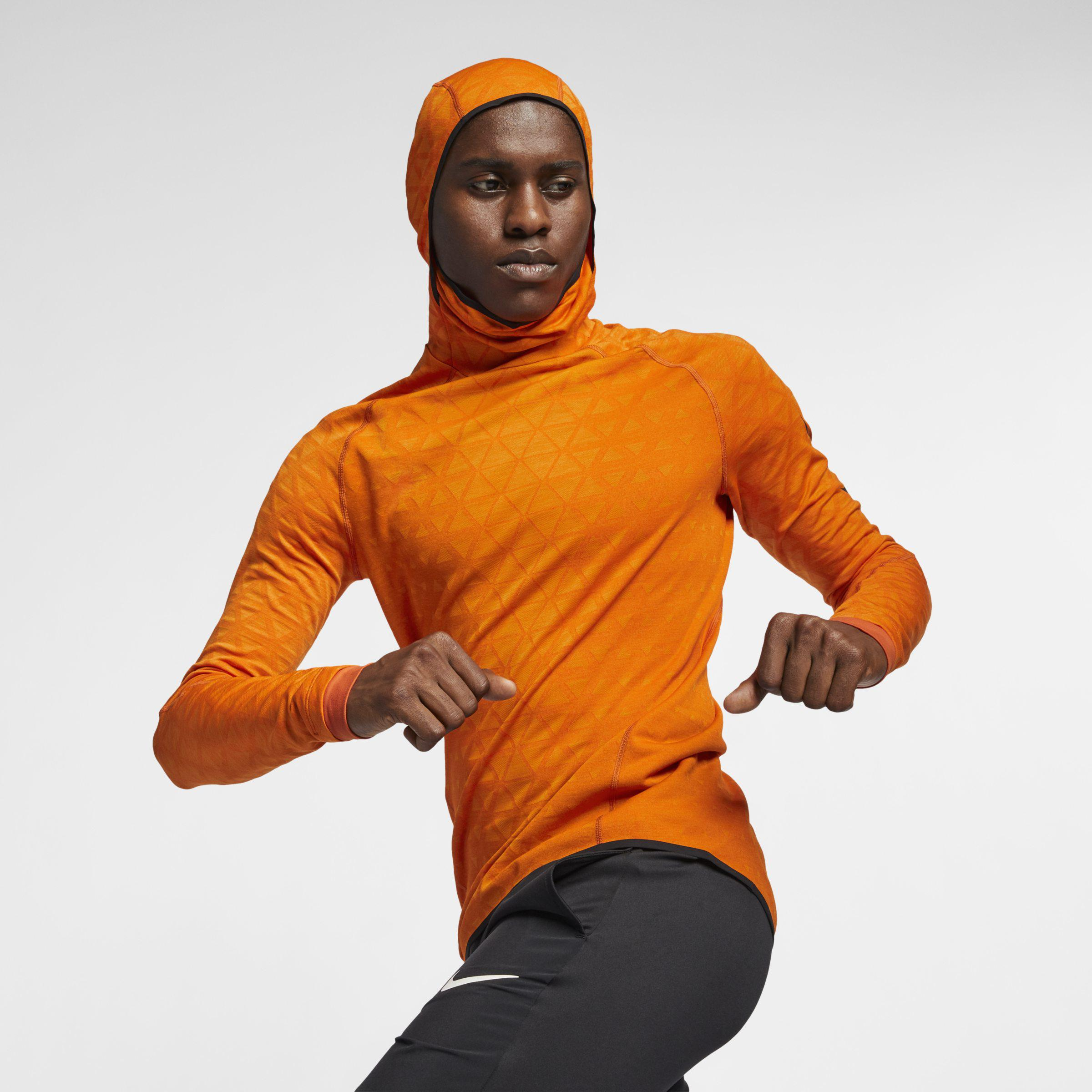 De tormenta Leo un libro anunciar  Nike Therma-sphere Premium Long-sleeve Training Top in Orange for Men - Lyst