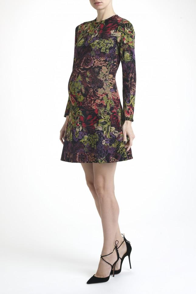 Valentino Jacquard Knit Floral Dress Lyst