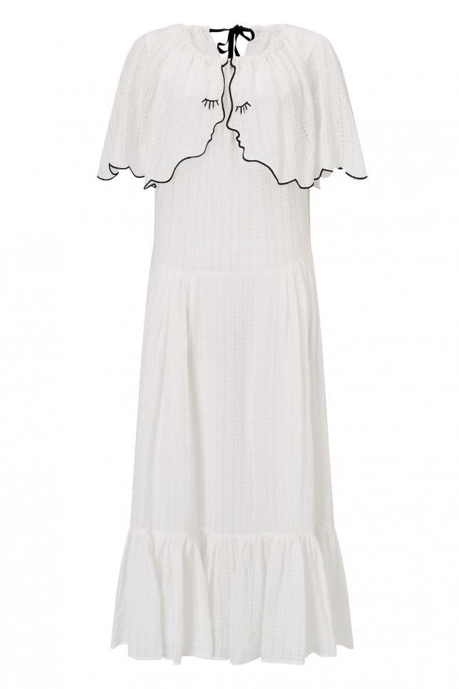 off shoulder ruffled dress - White Vivetta 5pbVKRmdzG