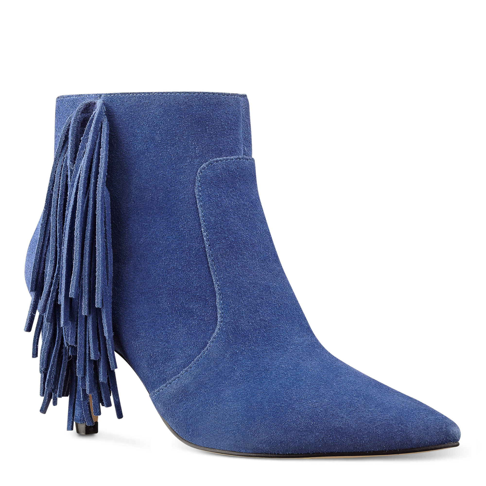 Nine West Jetra Pointy Toe Booties In Blue Lyst