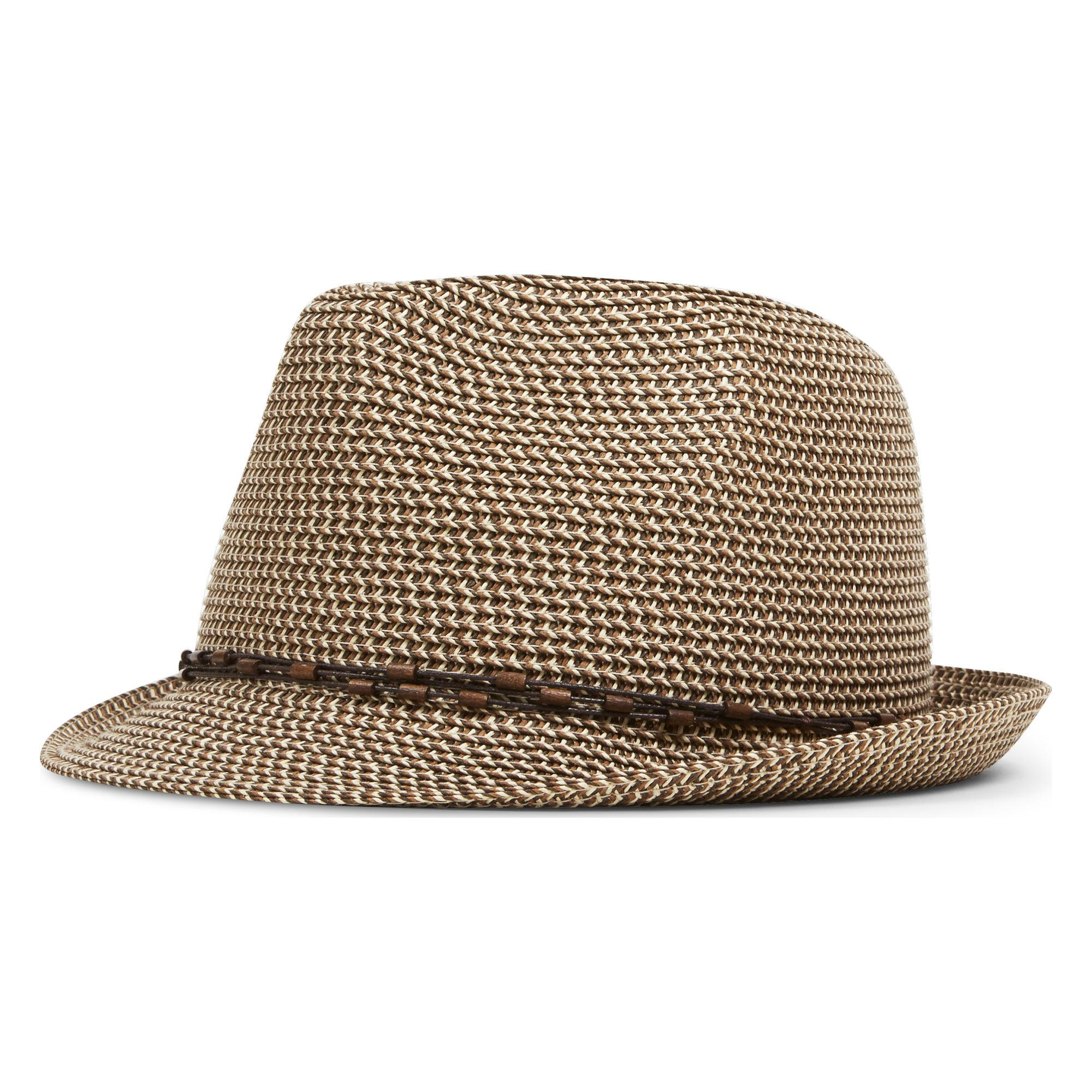 Lyst - Nine West Packable Classic Fedora in Brown 74feac60157