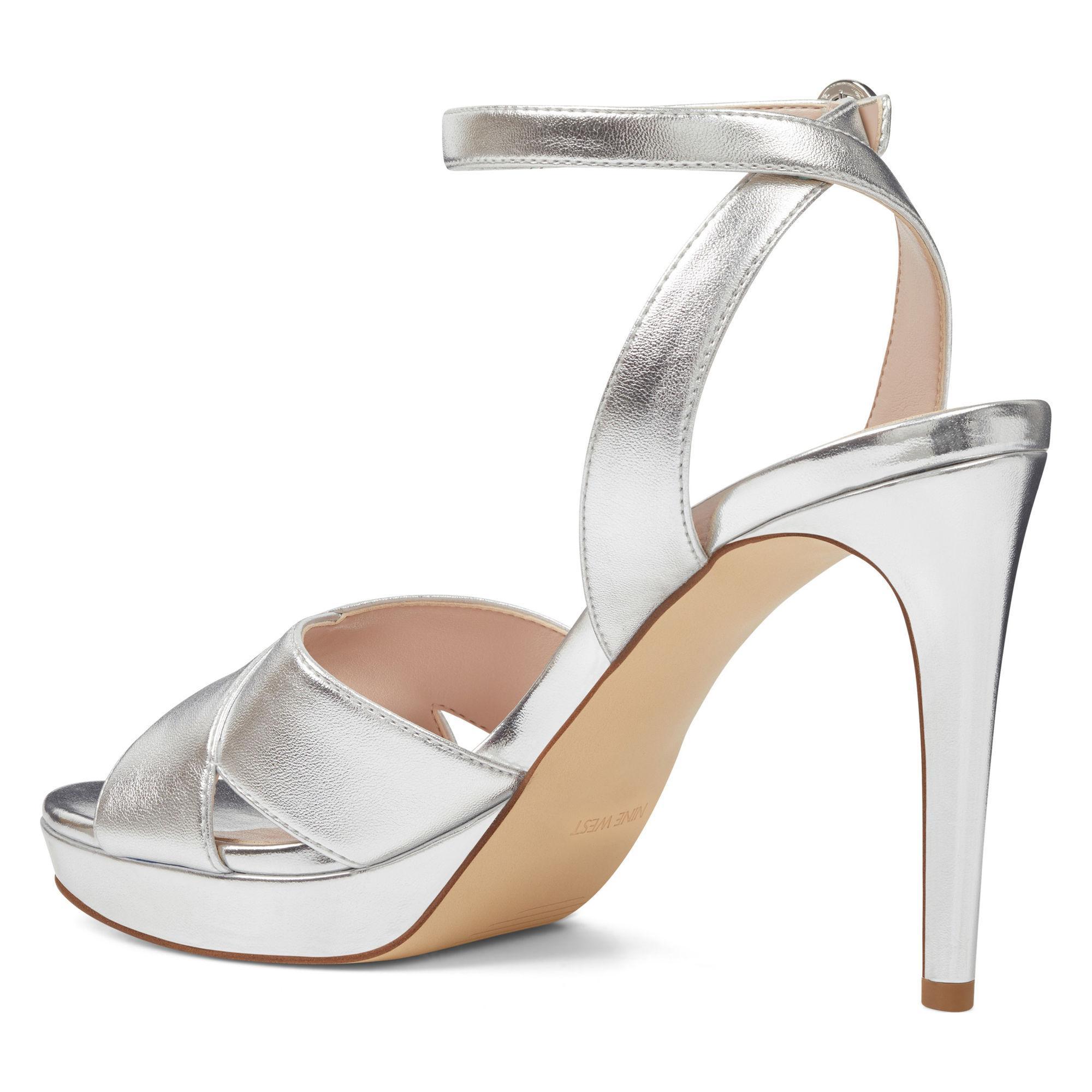 e8d5a86e2def Lyst - Nine West Quisha Ankle Strap Sandals in Metallic