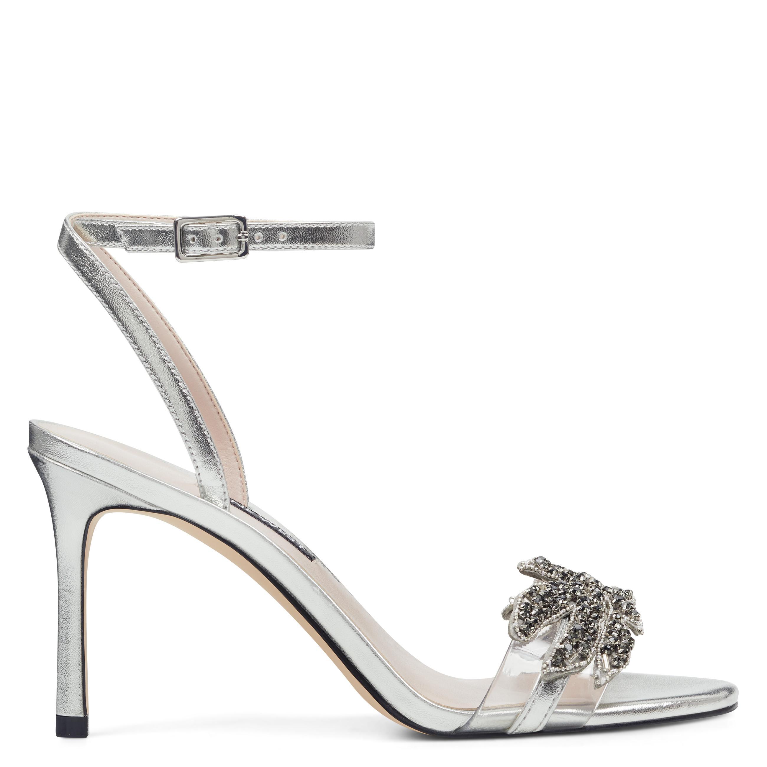 813610605394ef Lyst - Nine West Jamielee Embellished Sandals in Metallic