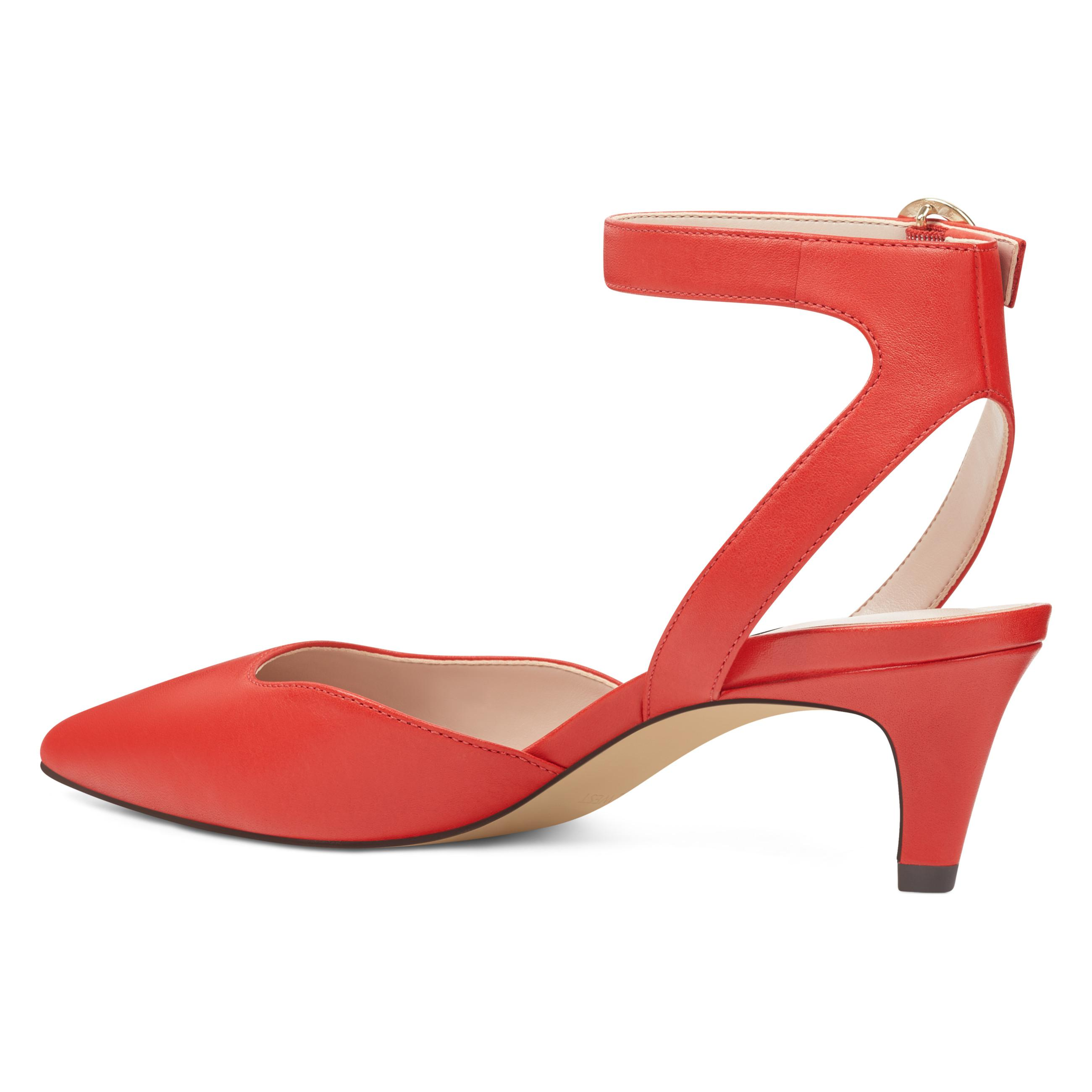 80d3d60dee1 Lyst - Nine West Quinteena Ankle Strap Pumps in Red - Save 53%