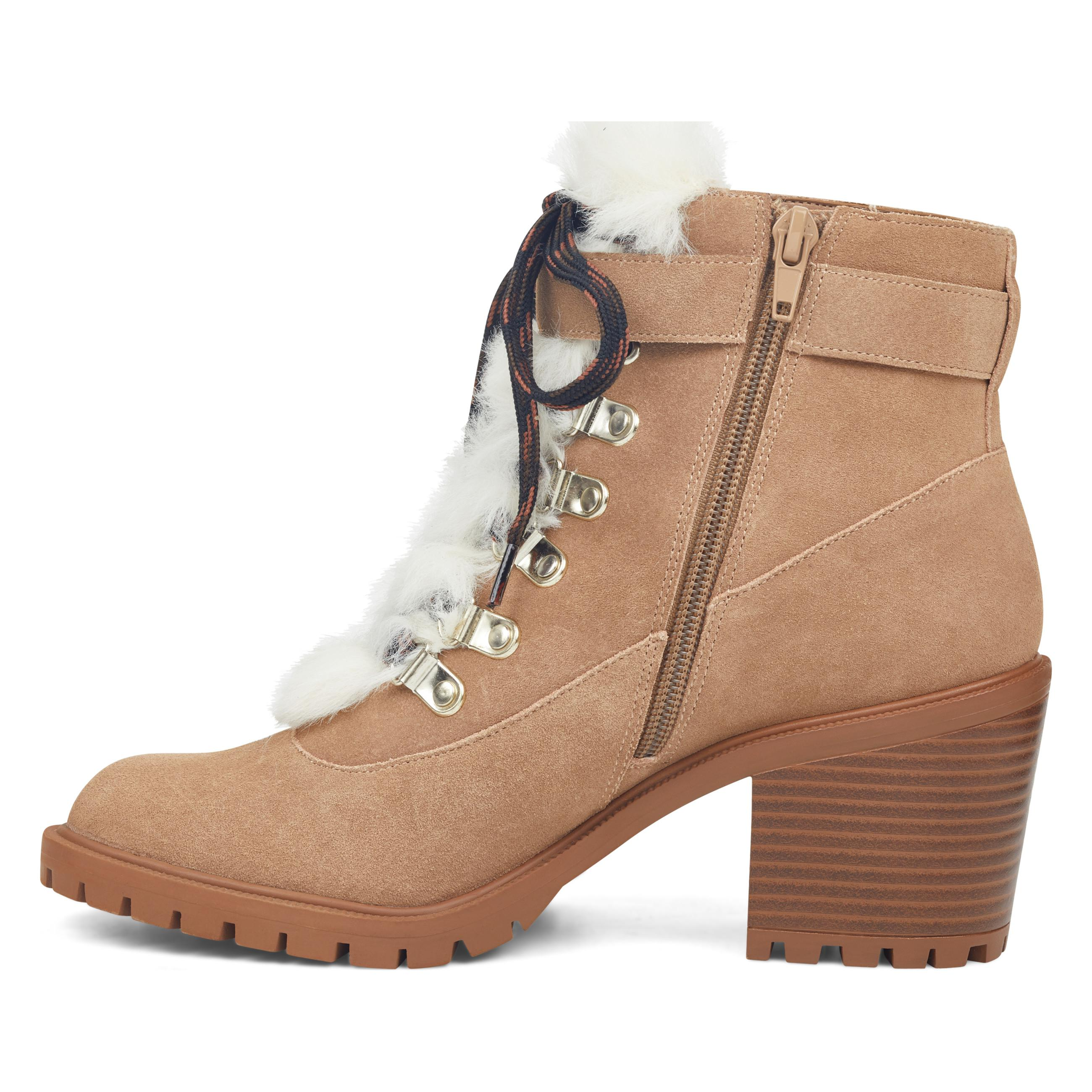 Nine West Iagree Lace Up Booties - Lyst