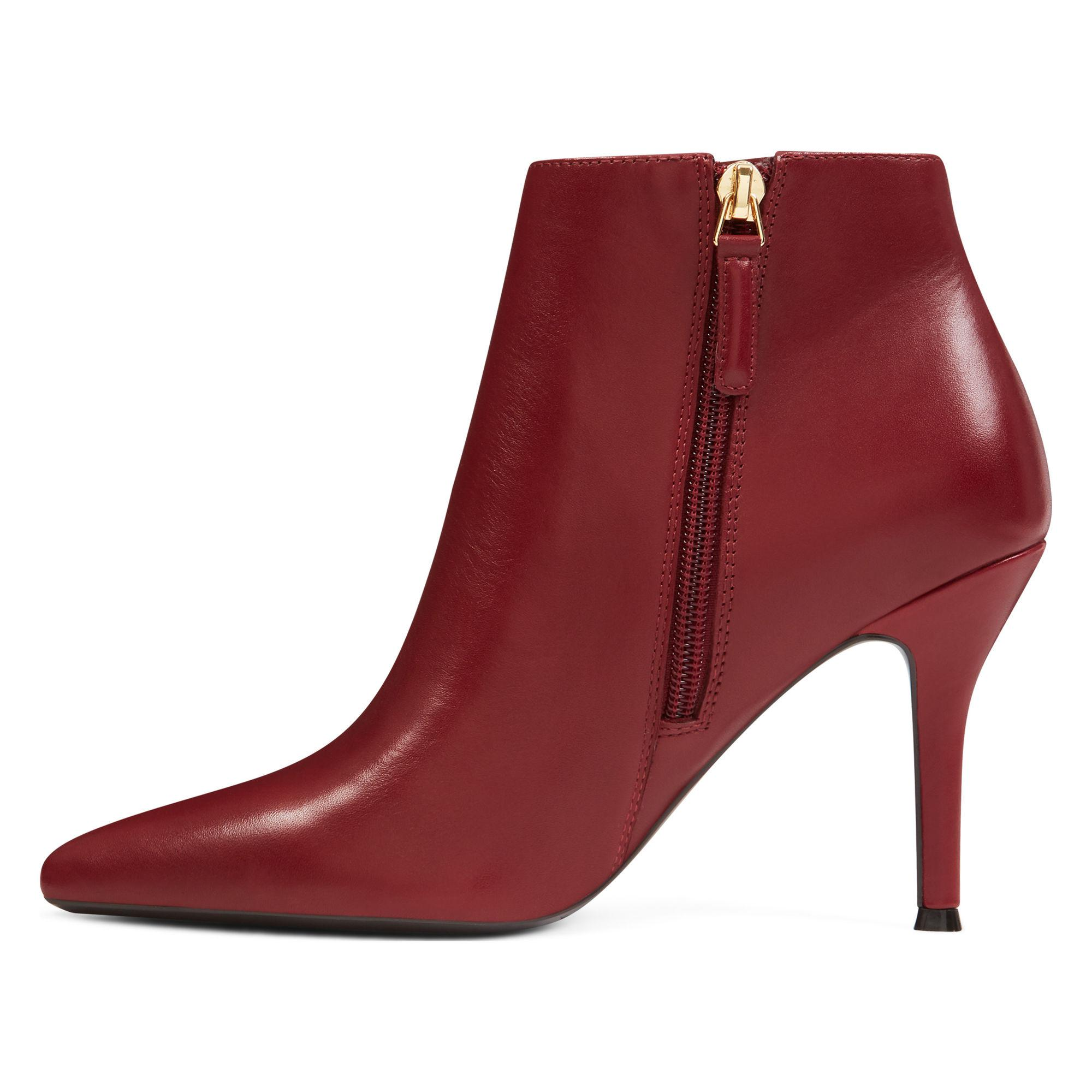 Leather Front Pointy Toe Booties