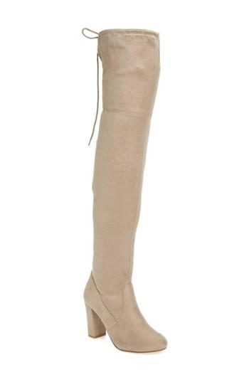Chinese Laundry Brinna Over The Knee Boot in Toffee (Natural) - Lyst