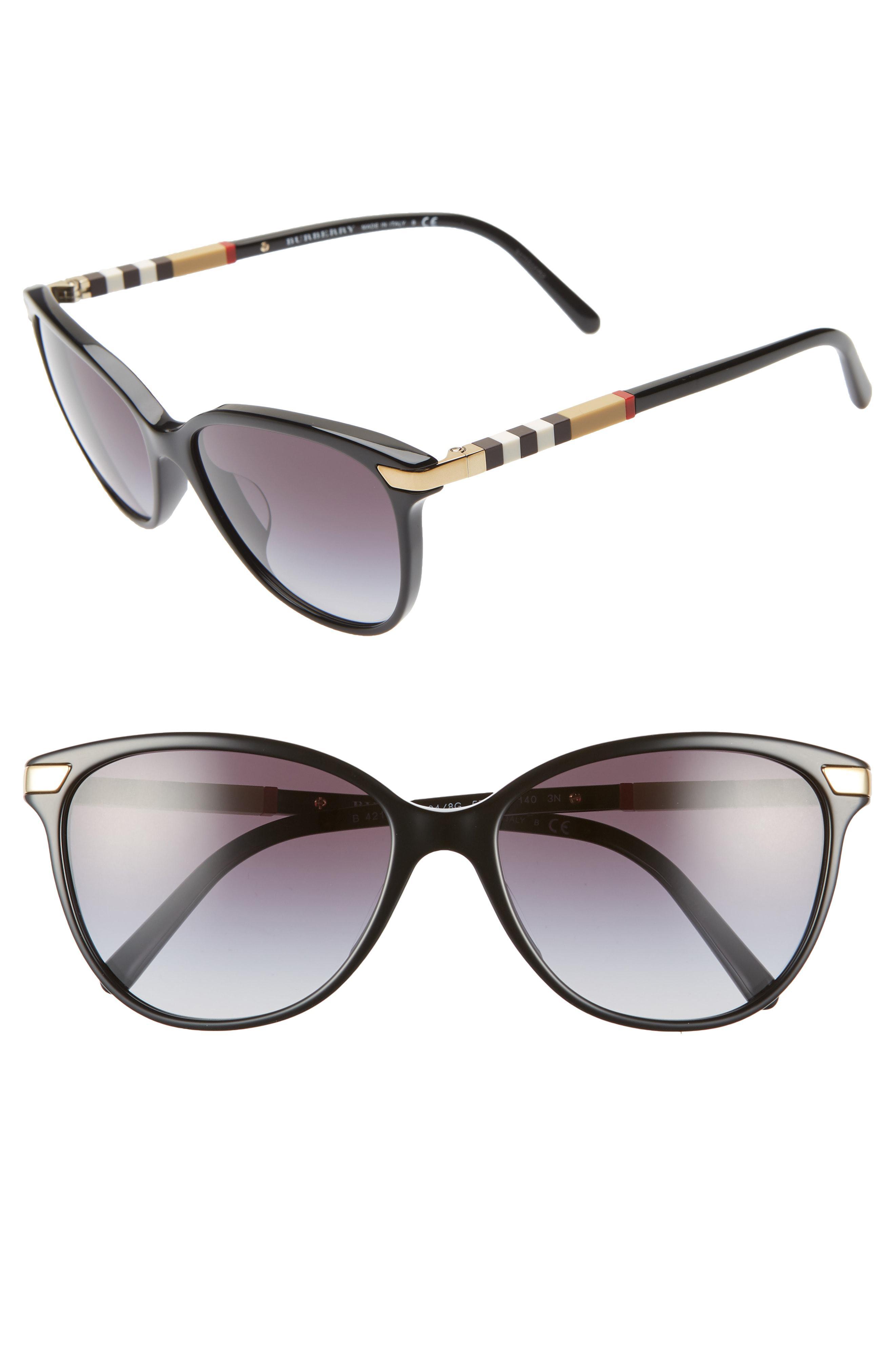 e0b929f176c Lyst - Burberry 57mm Sunglasses in Black